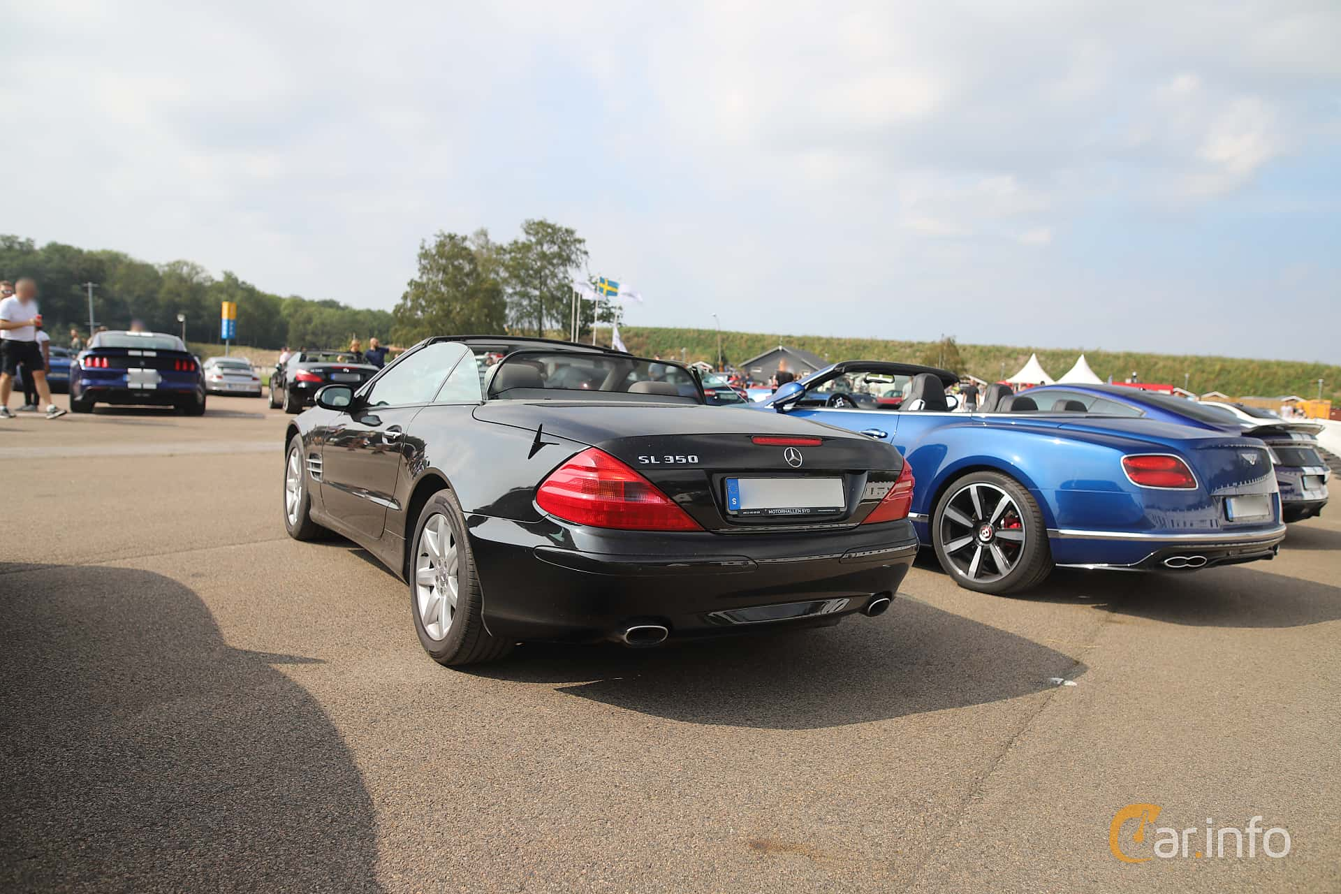 Mercedes-Benz SL 350  5G-Tronic, 245hp, 2004 at Autoropa Racing day Knutstorp 2019