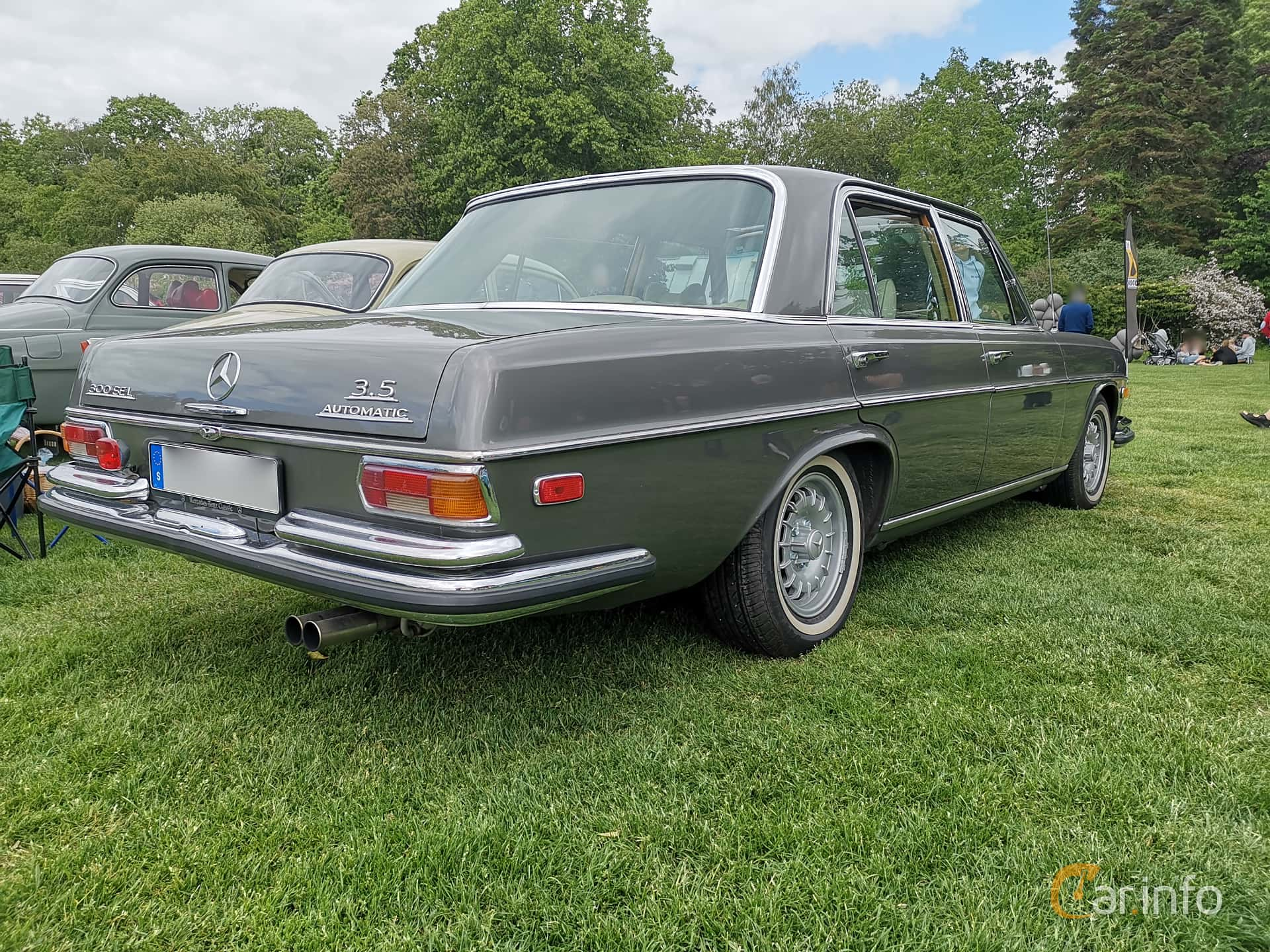 Mercedes-Benz 300 SEL 3.5  Automatic, 200hp, 1972 at Sofiero Classic 2019