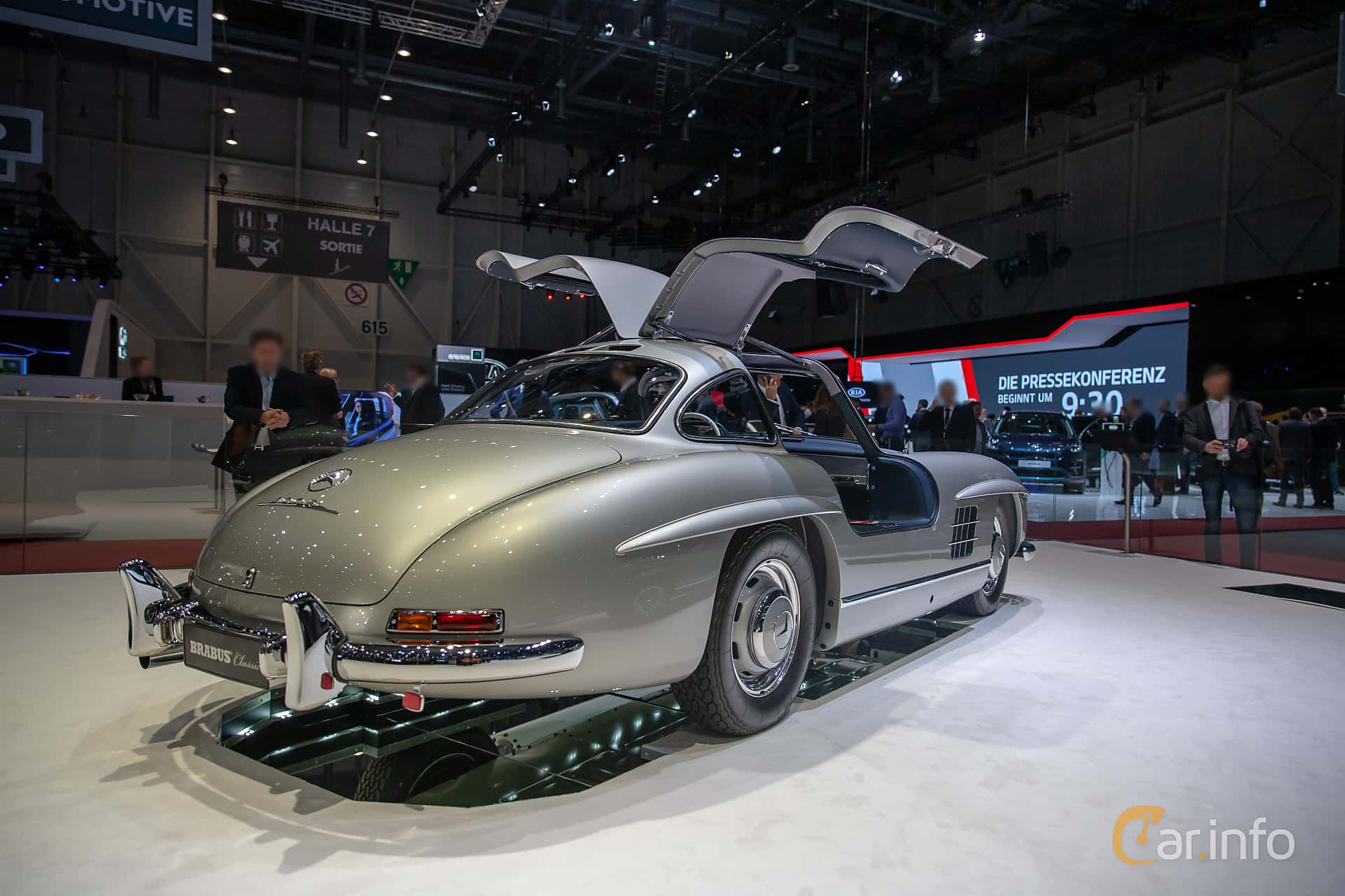 Back/Side of Mercedes-Benz 300 SL  Manual, 215ps, 1955 at Geneva Motor Show 2019
