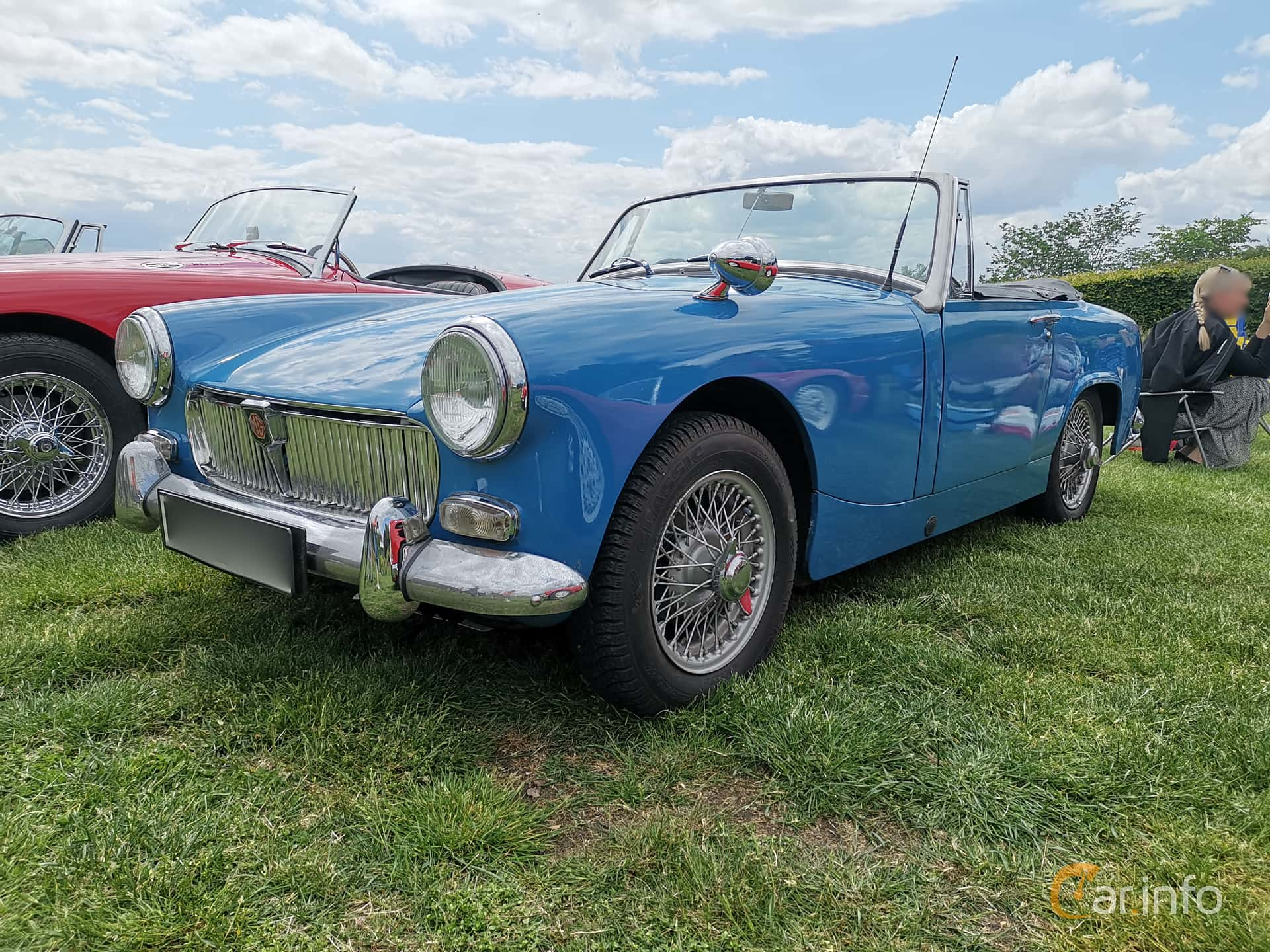 Front/Side  of MG Midget 1.3 Manual, 65ps, 1968 at Sofiero Classic 2019