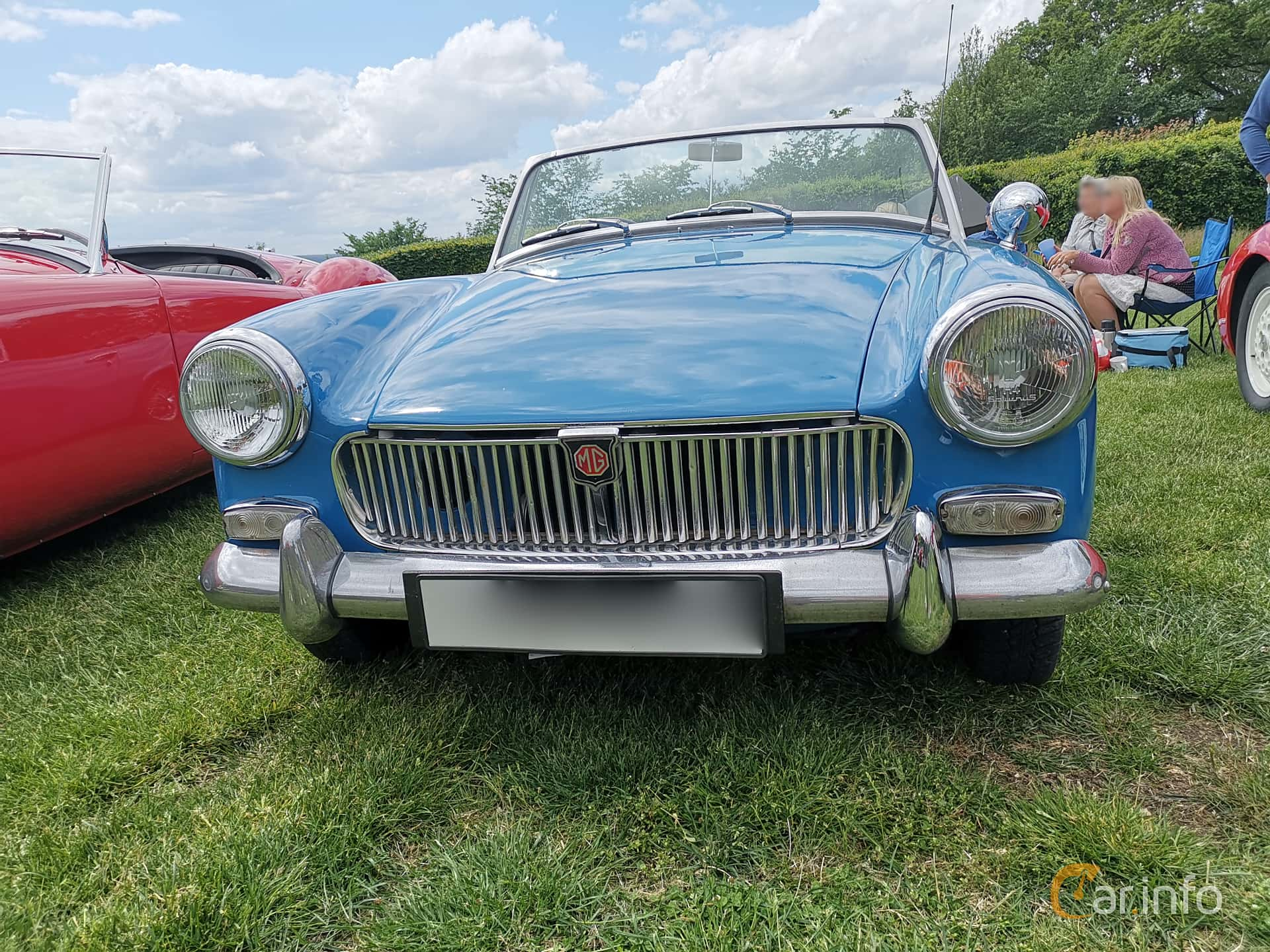 Front  of MG Midget 1.3 Manual, 65ps, 1968 at Sofiero Classic 2019