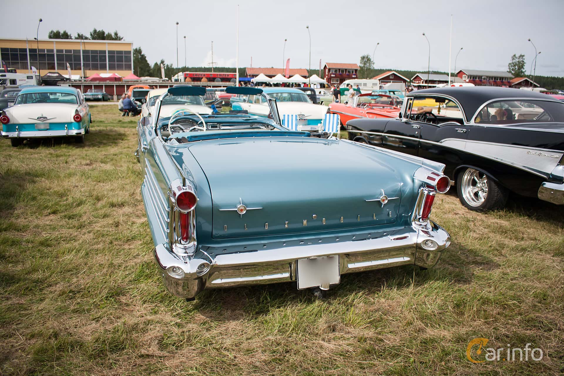 Oldsmobile Ninety-Eight Convertible Coupé 6.1 V8 Hydra-Matic, 309hp, 1958 at Classic Car Week Rättvik 2015