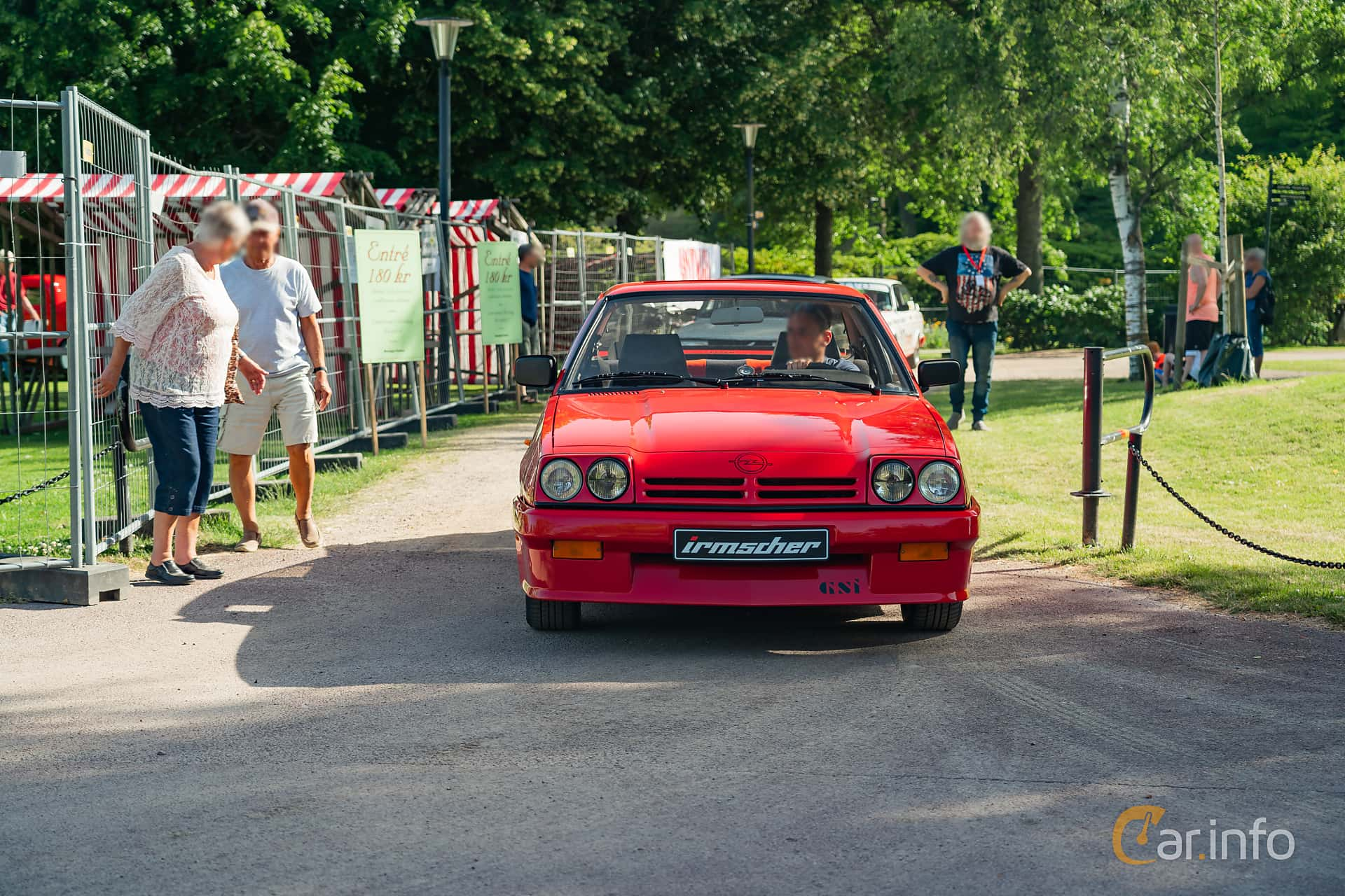 Front  of Opel Manta Hatchback 2.0 E Manual, 110ps, 1987 at Ronneby Nostalgia Festival 2019