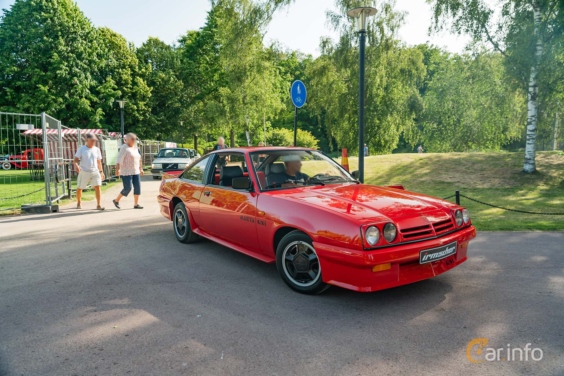 Front/Side  of Opel Manta Hatchback 2.0 E Manual, 110ps, 1987 at Ronneby Nostalgia Festival 2019