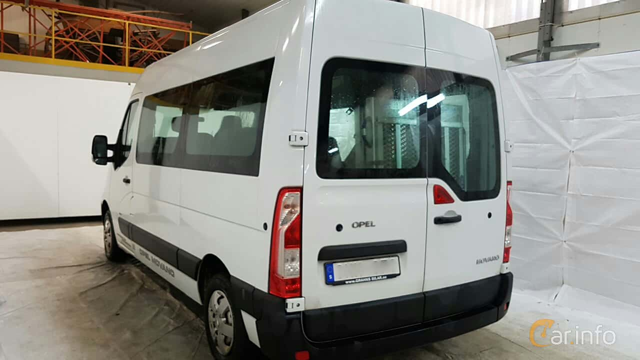 Opel Movano Minibus 2.3 CDTI Manual, 125hp, 2012