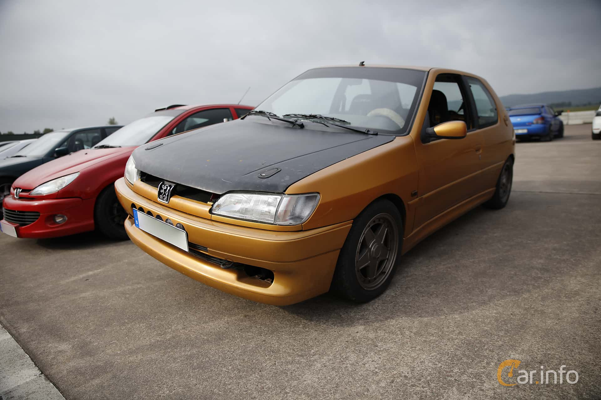 Front/Side of Peugeot 306 GTi 2.0 GTI6 Manual, 163ps, 1997 at JapTuning