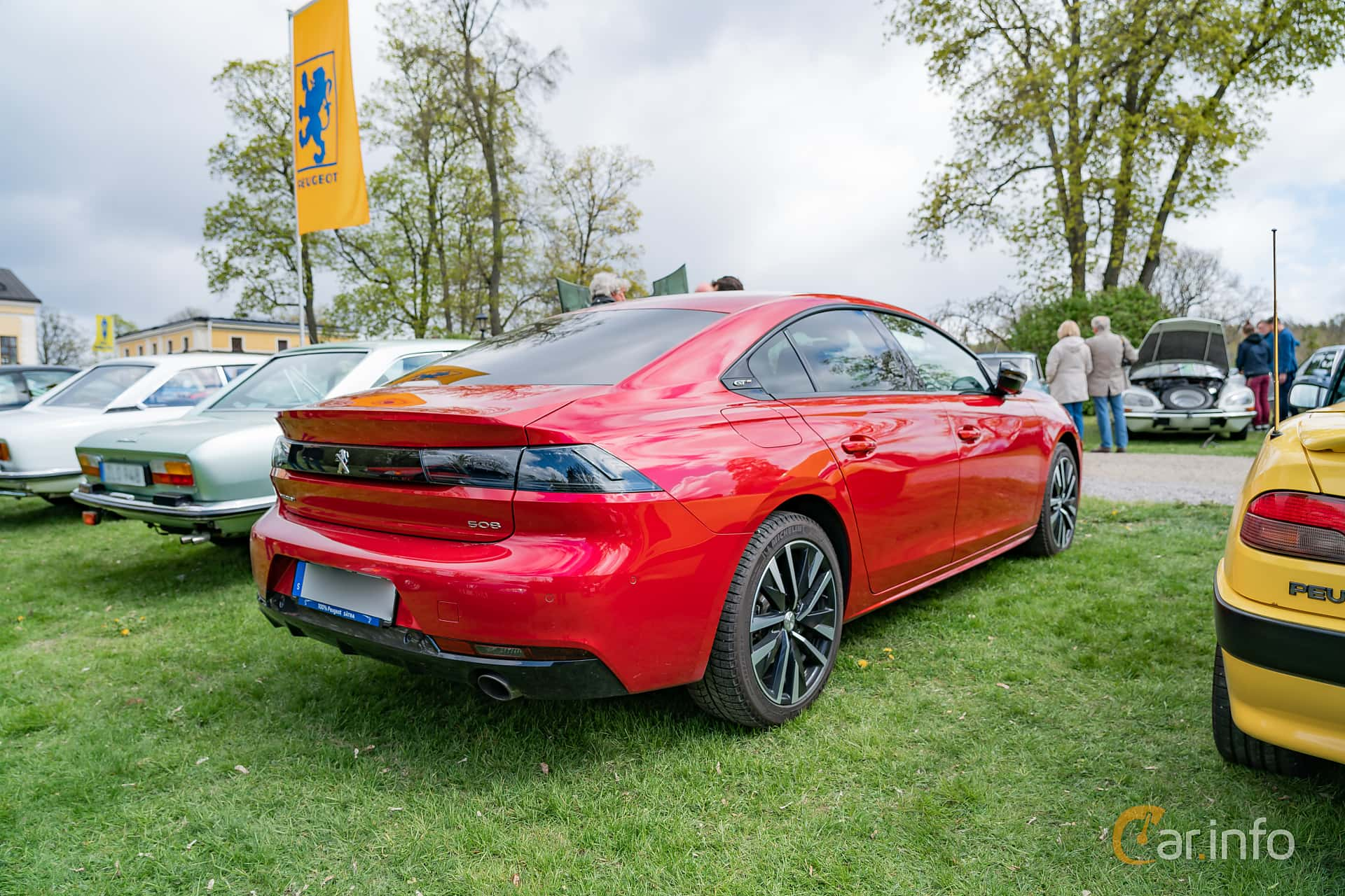Back/Side of Peugeot 508 GT 1.6 PureTech EAT, 225ps, 2018 at Fest För Franska Fordon  på Taxinge slott 2019