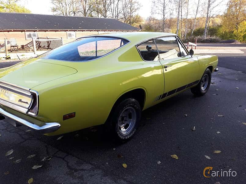 Back/Side of Plymouth Barracuda Sports Fastback 3.7 TorqueFlite, 147ps, 1969