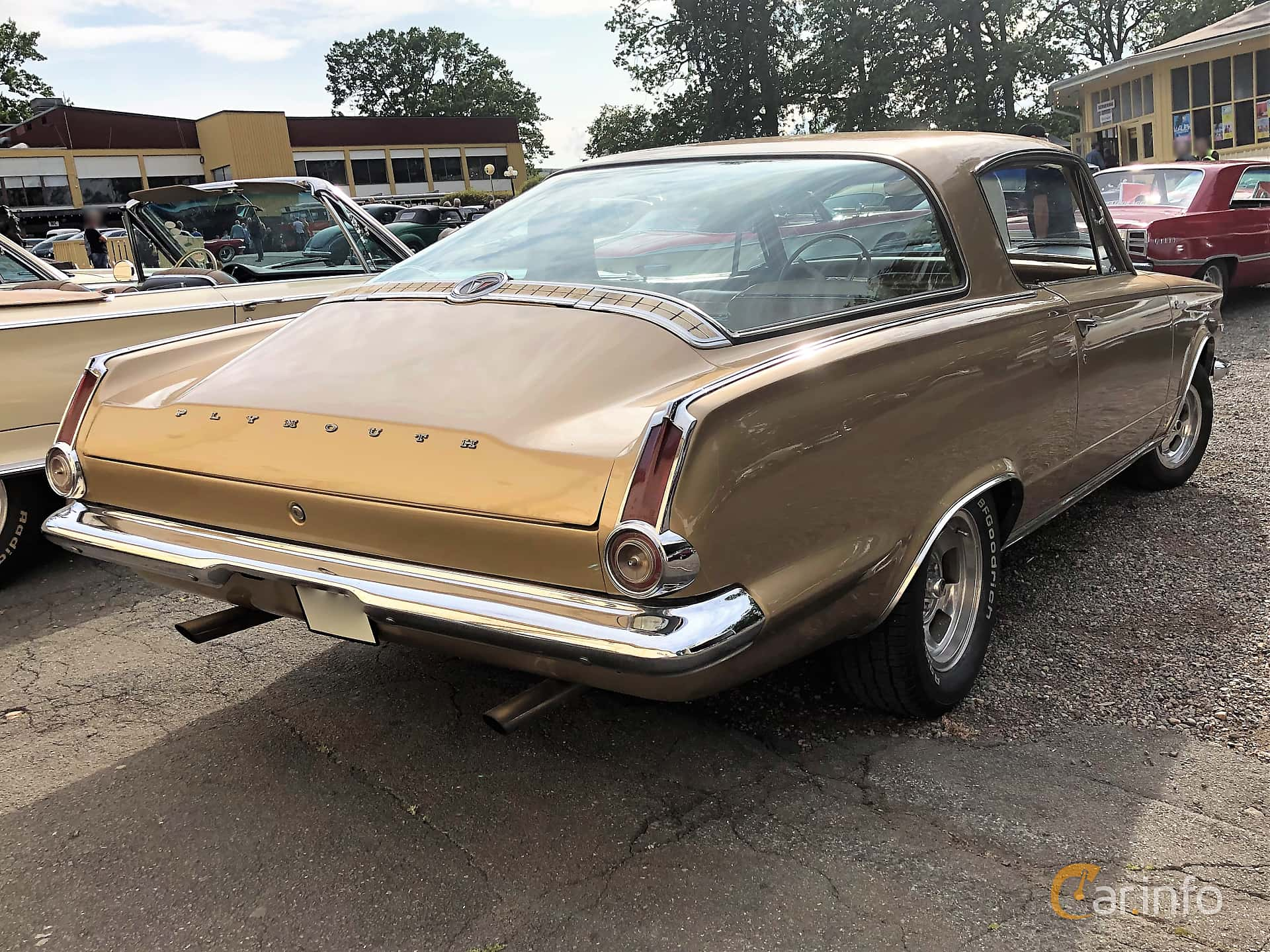 Plymouth Barracuda Hardtop 4.5 V8 TorqueFlite, 182hp, 1965 at Bil & MC-träffar i Huskvarna Folkets Park 2019 vecka 32 tema Hot Rods