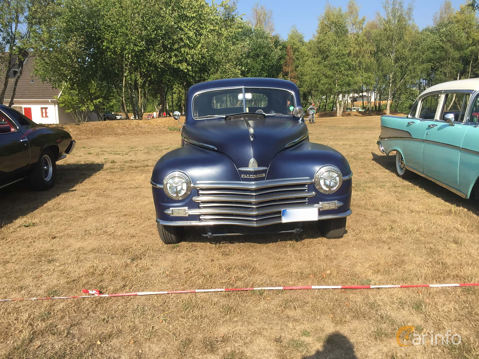 Fram av Plymouth Deluxe Coupé 3.6 Manual, 95ps, 1948 på Eddys bilträff Billesholm Augusti 2018