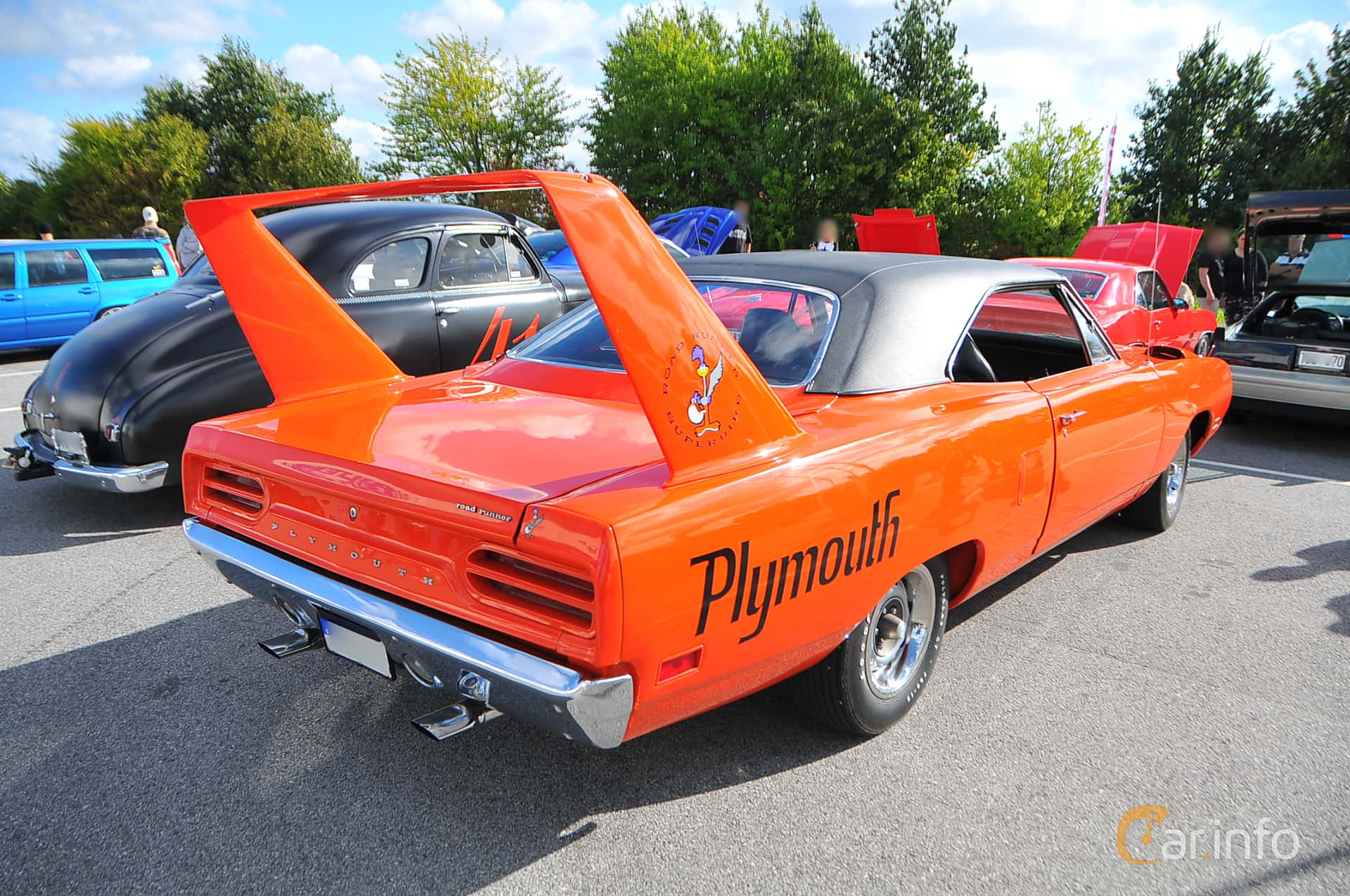 Plymouth Road Runner Superbird 7.2 V8 TorqueFlite, 375hk, 1970 at Biltema Gatbilar Lund 2018