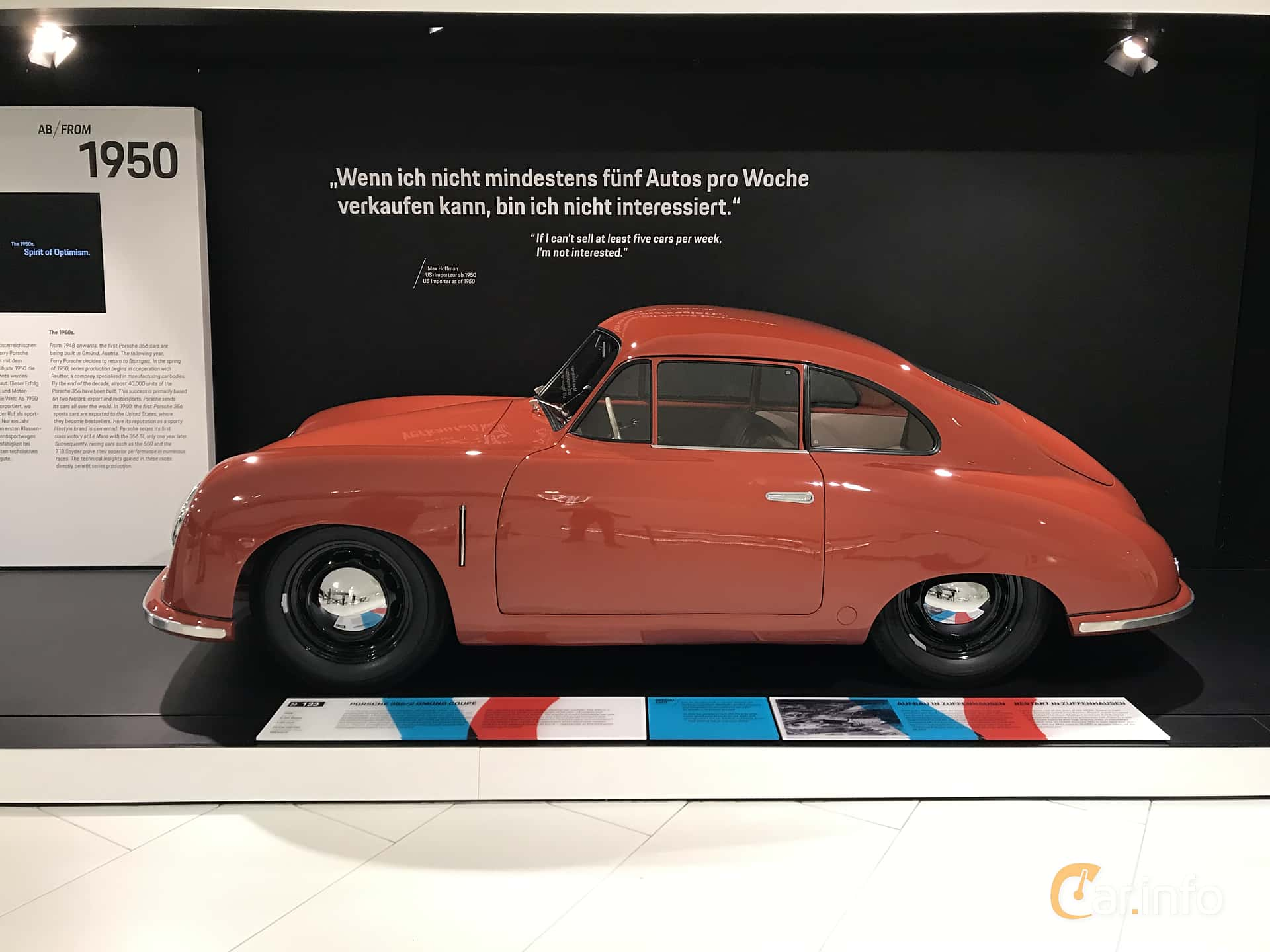 Porsche 356 1100 Coupé 1.1 Manual, 40hp, 1948