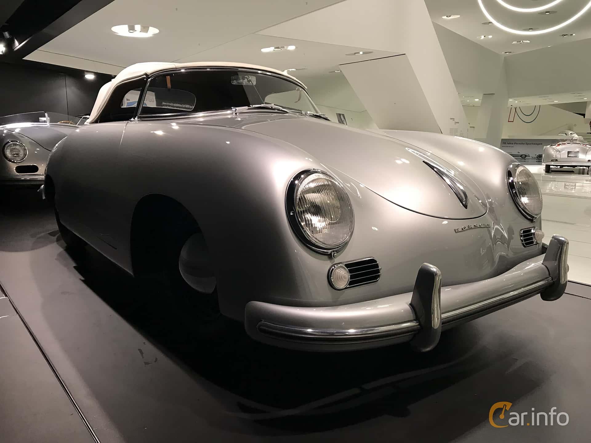 Front/Side  of Porsche 356 1500 Speedster 1.5 Manual, 55ps, 1954