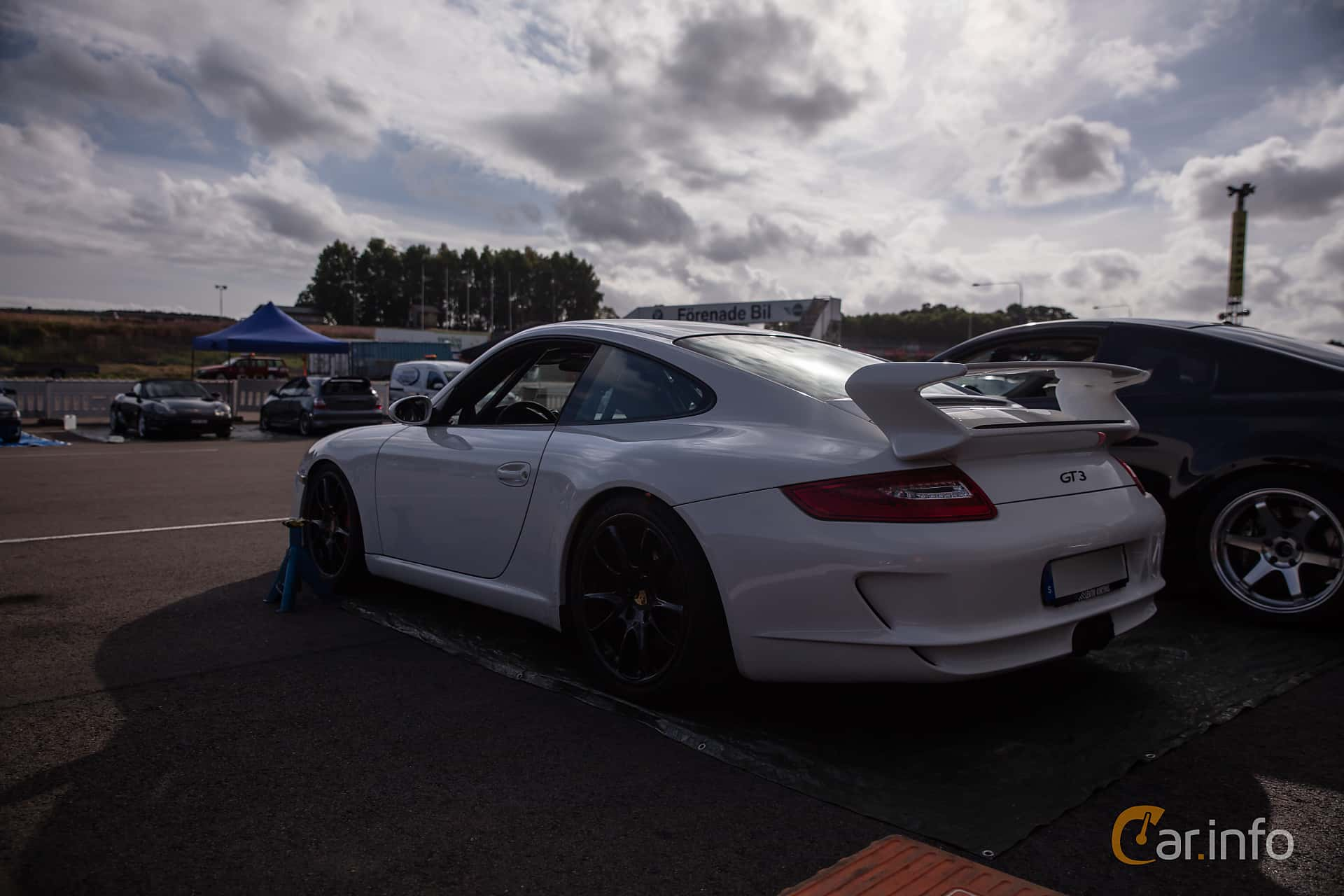 Back/Side of Porsche 911 GT3 3.6 H6 Manual, 415ps, 2007 at JapTuning Trackday 2018 Knutstorp