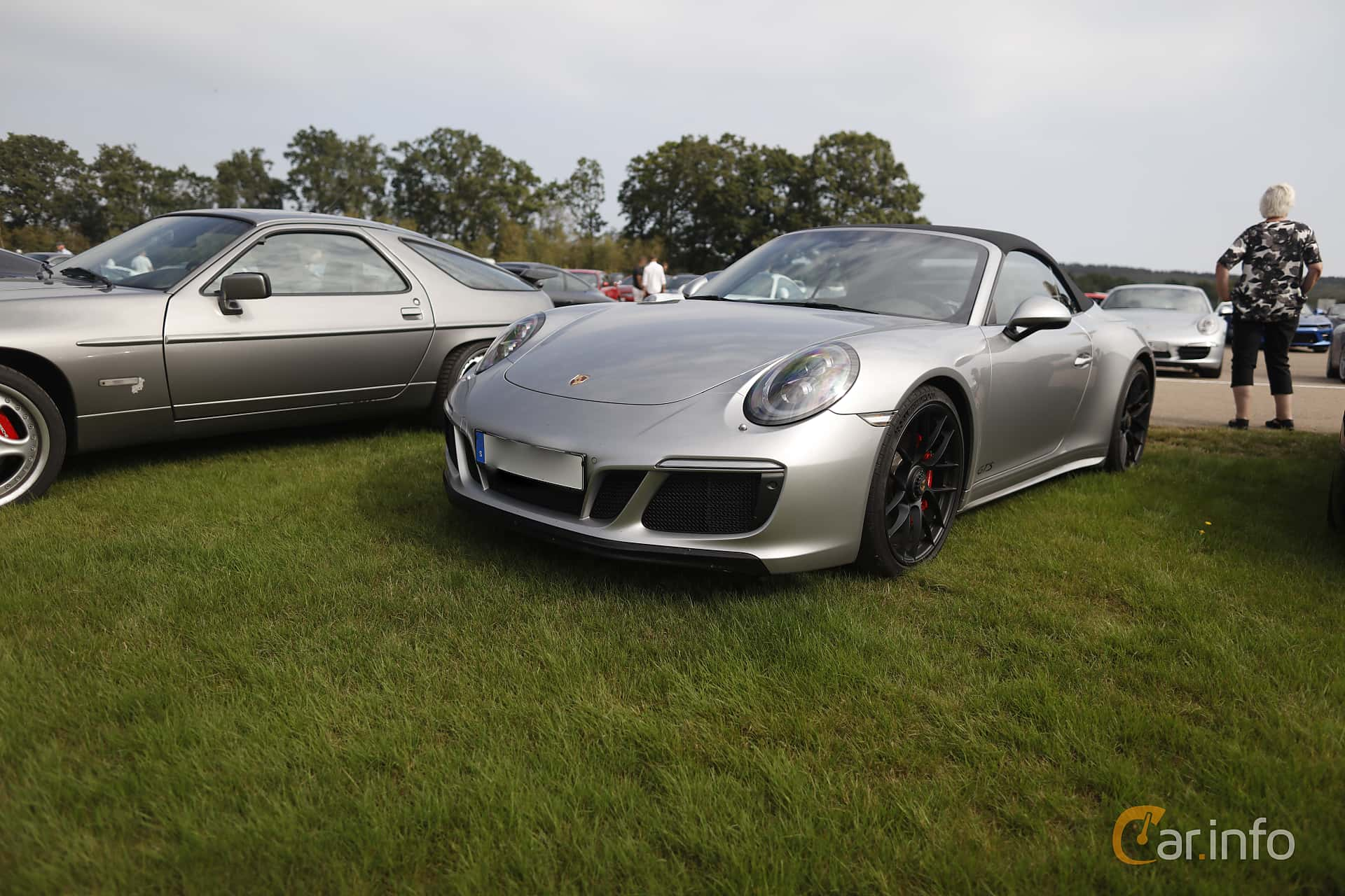 Front/Side  of Porsche 911 Carrera 4 GTS Cabriolet  PDK, 450ps, 2017 at Autoropa Racing day Knutstorp 2019