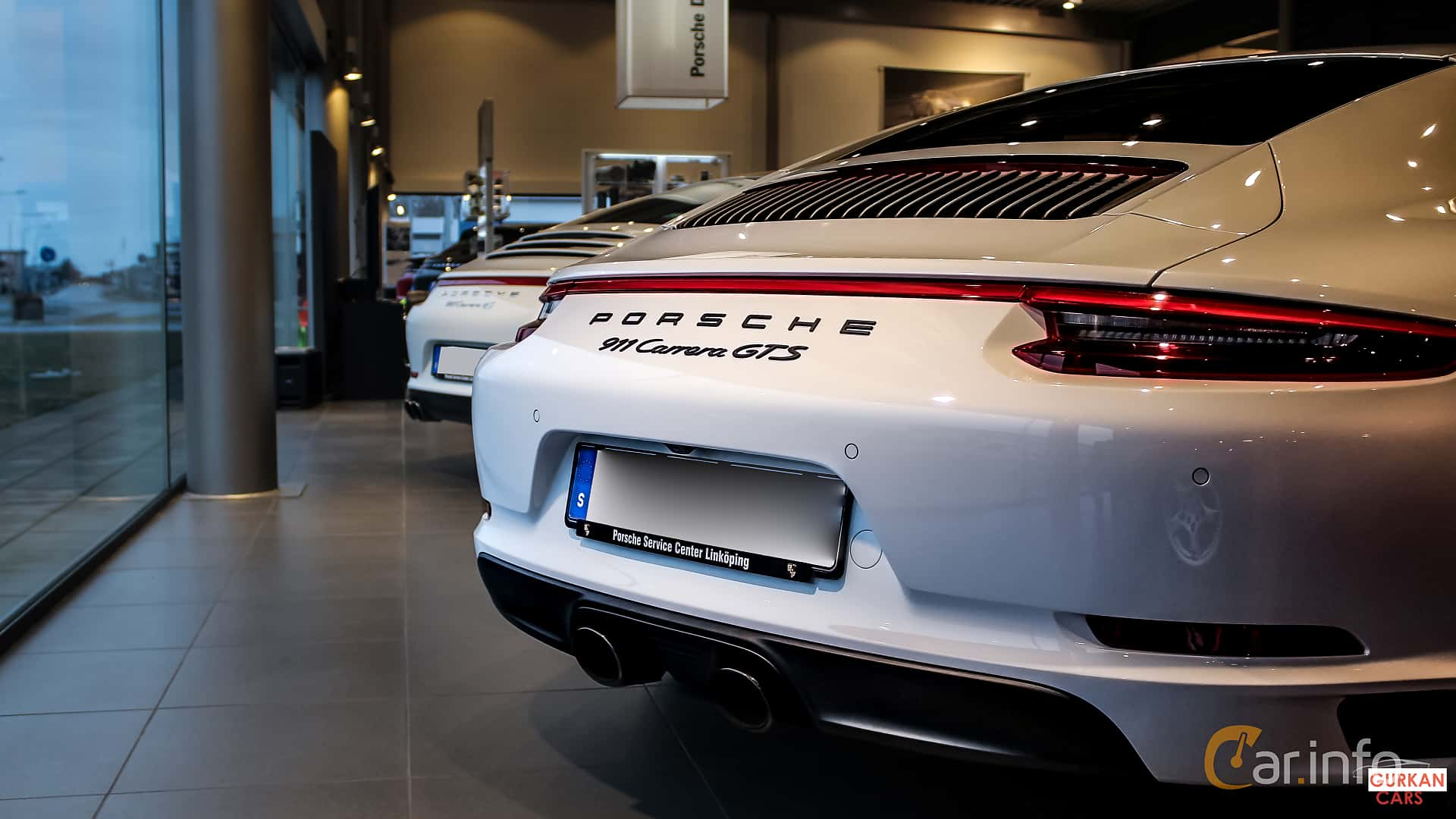 Närbild av Porsche 911 Carrera GTS 3.0 H6 450ps, 2017