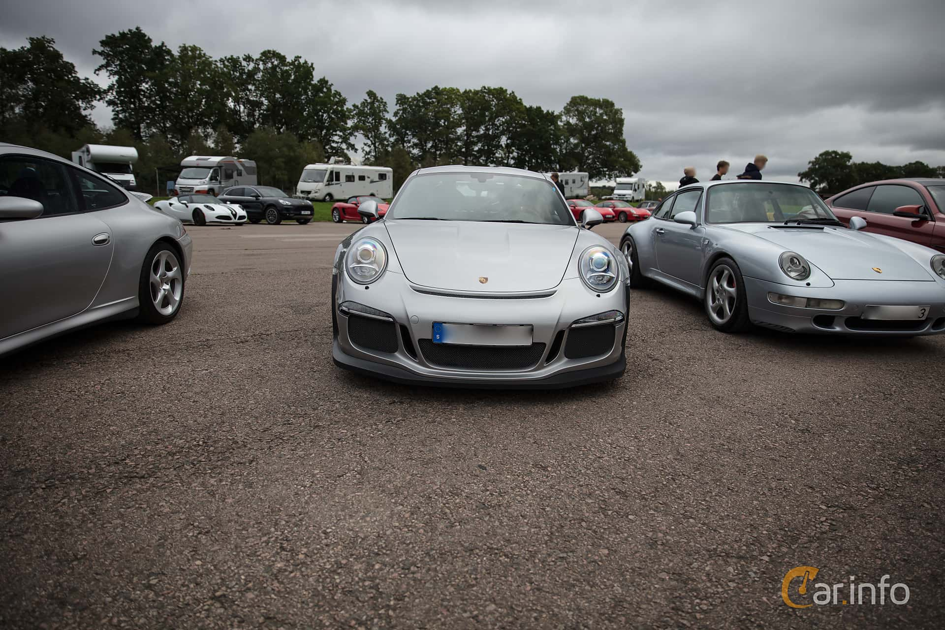 Front  of Porsche 911 GT3 RS 4.0 H6 PDK, 500ps, 2016 at Autoropa Racing day Knutstorp 2018