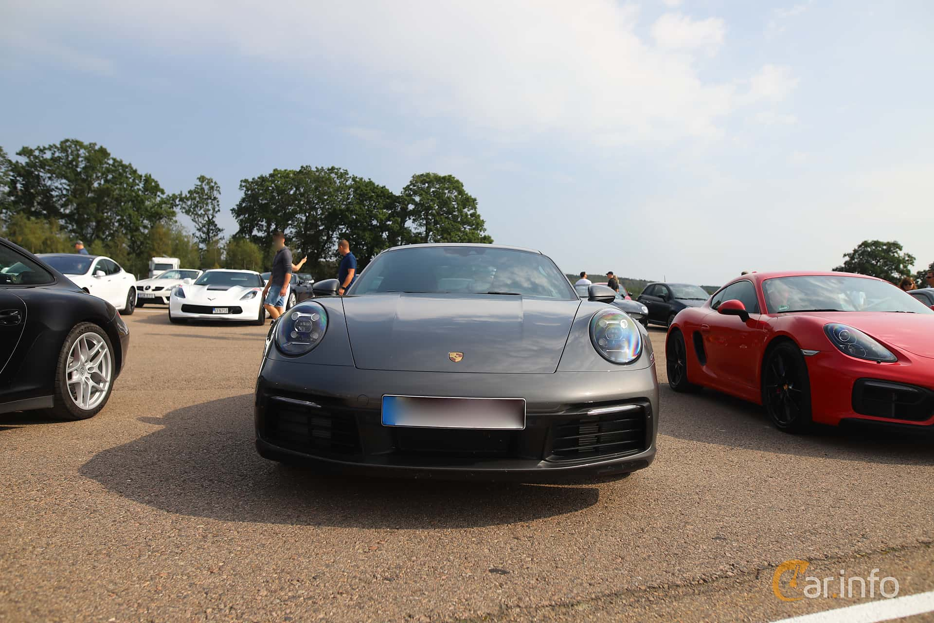 Front  of Porsche 911 Carrera S  PDK, 450ps, 2020 at Autoropa Racing day Knutstorp 2019