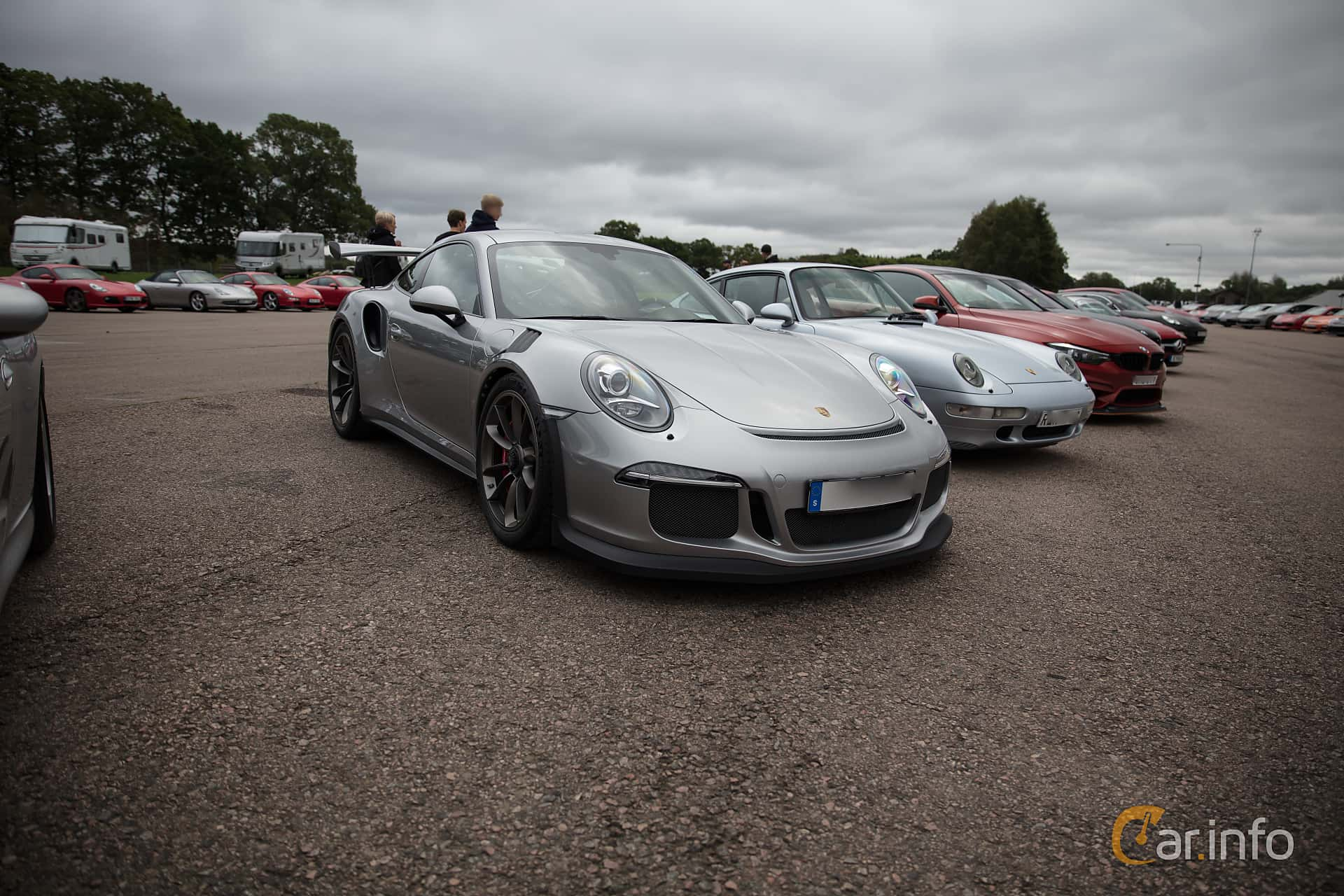 Front/Side  of Porsche 911 GT3 RS 4.0 H6 PDK, 500ps, 2016 at Autoropa Racing day Knutstorp 2018