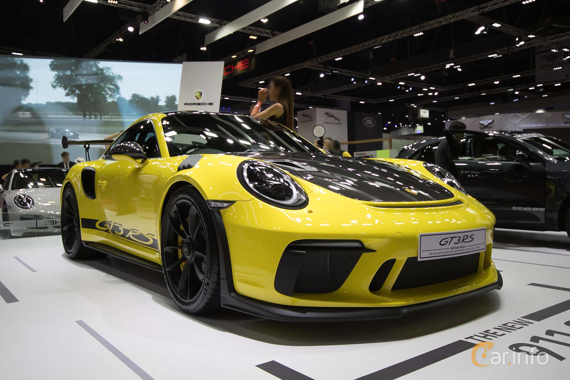 Front/Side  of Porsche 911 GT3 RS 4.0 H6 PDK, 520ps, 2019 at Bangkok Motor Show 2019