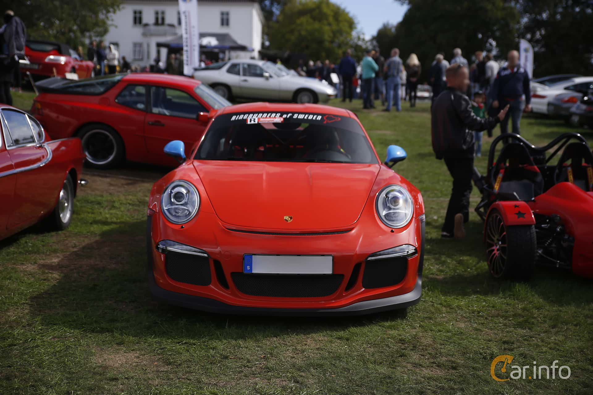 Front  of Porsche 911 GT3 RS 4.0 H6 PDK, 500ps, 2016 at Sportvagnsträffen 2018