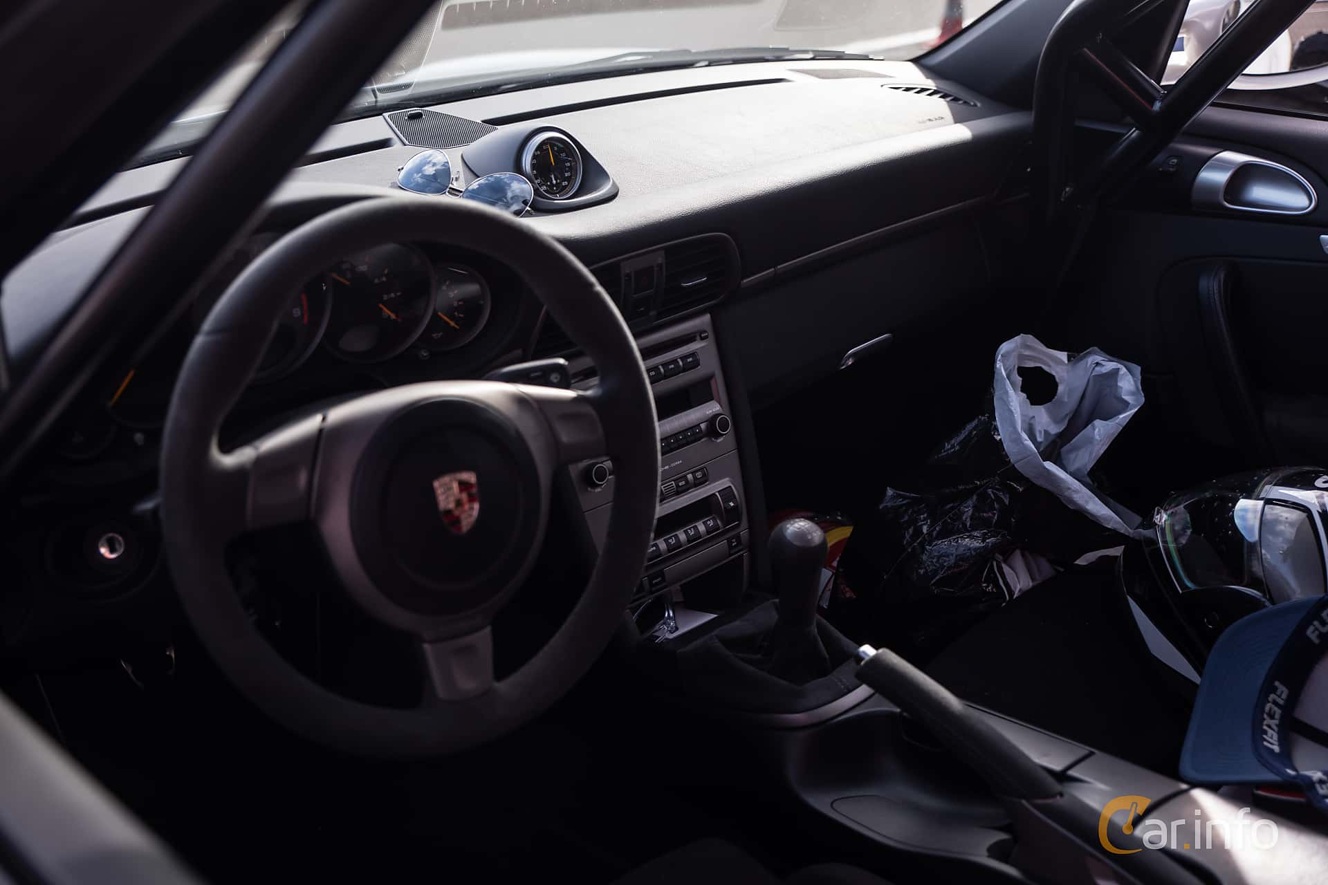 Interior of Porsche 911 GT3 3.6 H6 Manual, 415ps, 2007 at JapTuning Trackday 2018 Knutstorp