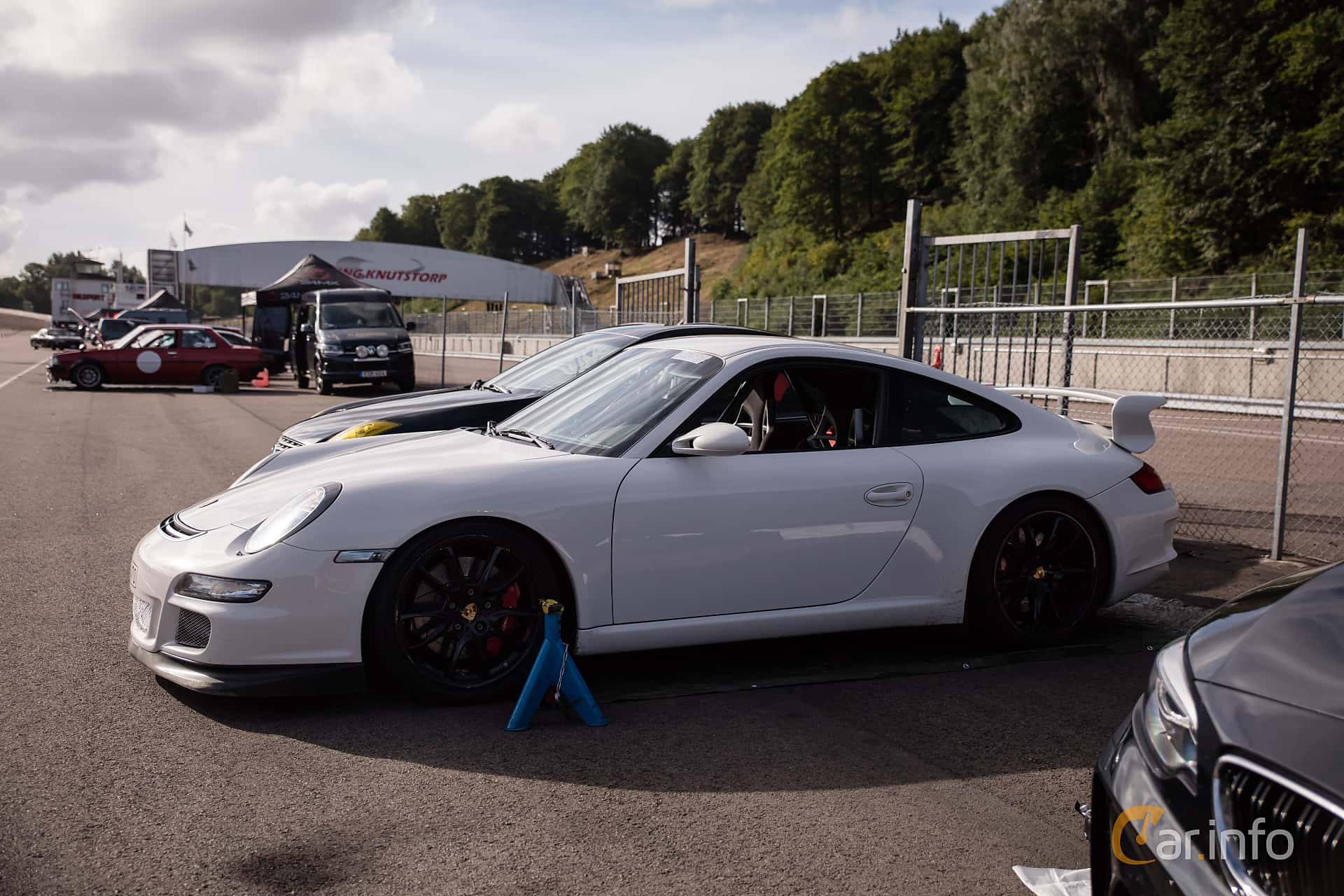 Side  of Porsche 911 GT3 3.6 H6 Manual, 415ps, 2007 at JapTuning Trackday 2018 Knutstorp
