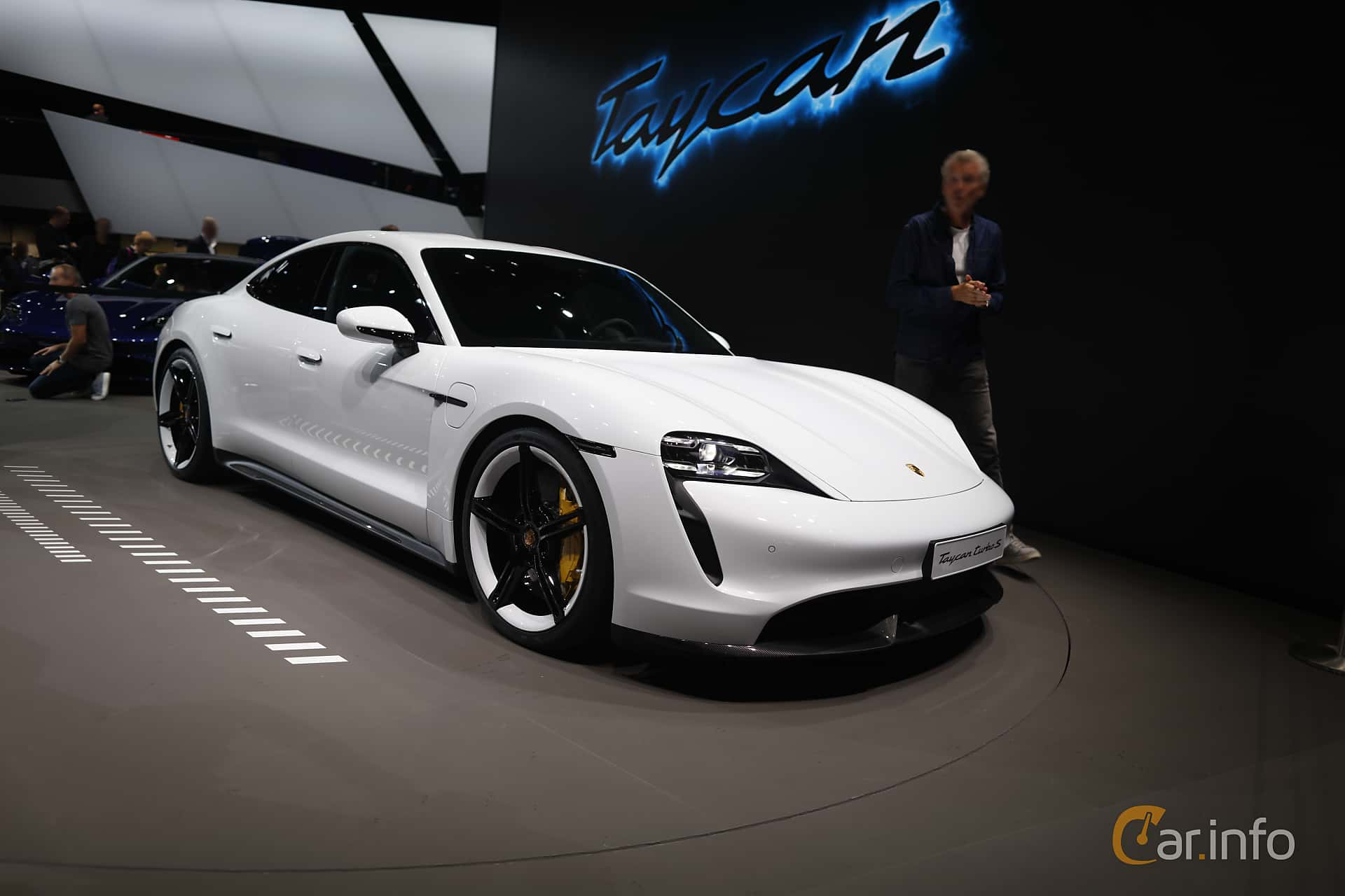 Front/Side  of Porsche Taycan Turbo S  Single Speed, 761ps, 2020 at IAA 2019