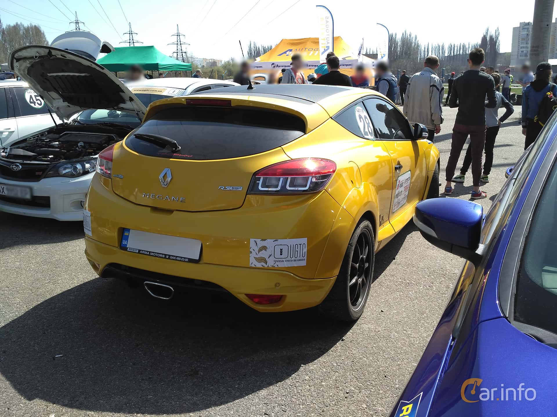 Back/Side of Renault Mégane RS 2.0 TCe Manual, 265ps, 2012 at Ltava Time Attack 1st Stage