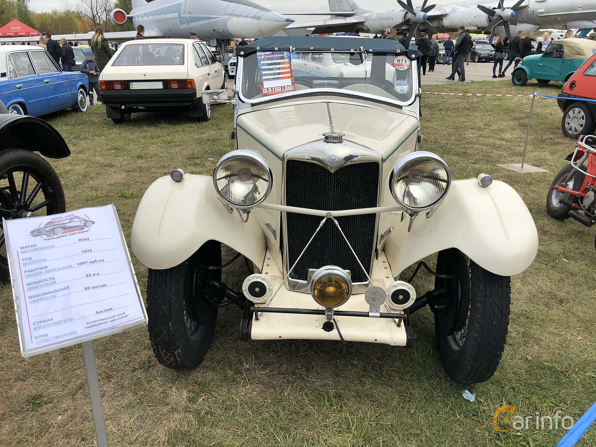 Fram av Riley 9 Convertible 1.1 Manual, 29ps, 1933 på Old Car Land no.2 2019