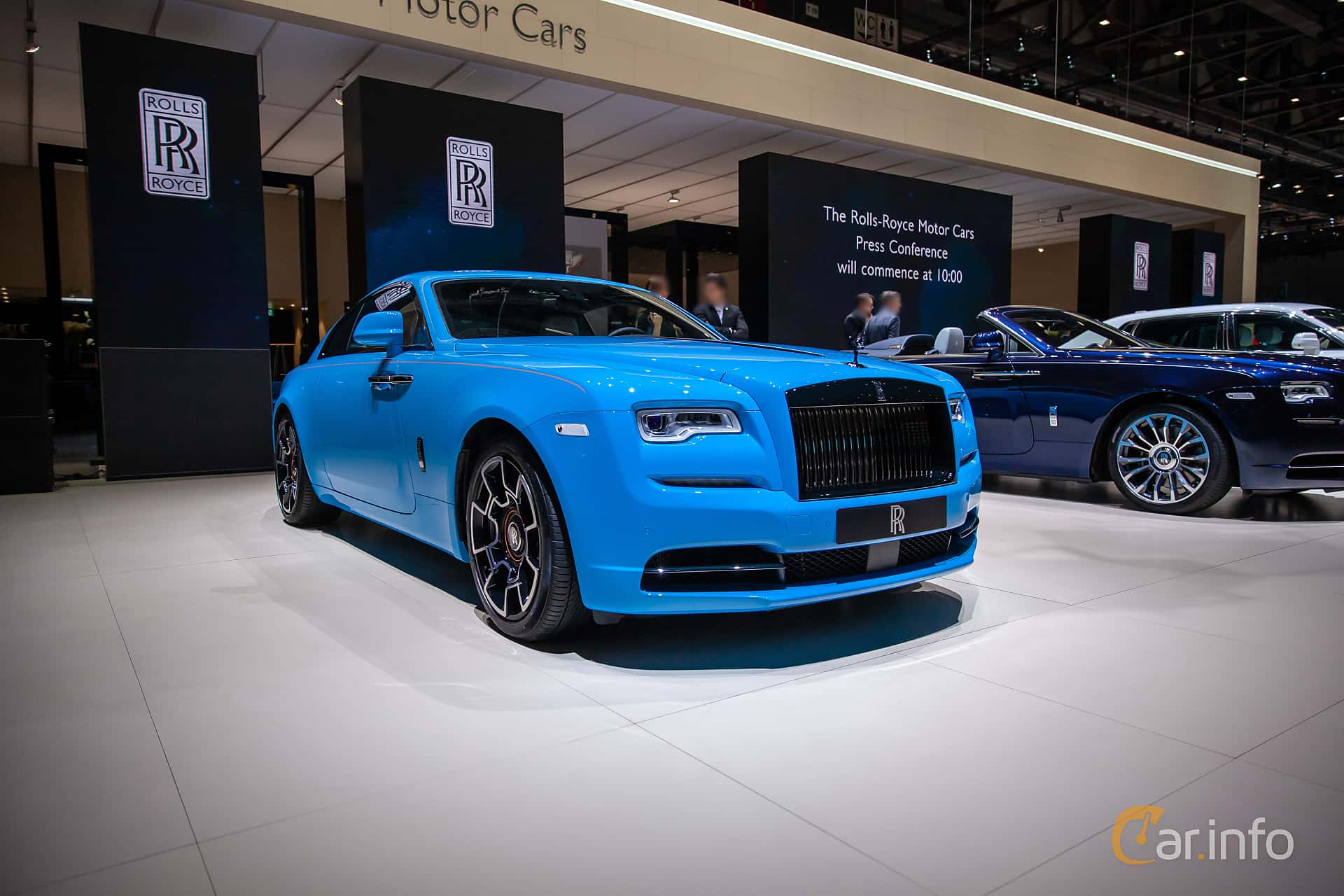 Front/Side  of Rolls-Royce Wraith Coupé 6.6 V12 Automatic, 632ps, 2019 at Geneva Motor Show 2019