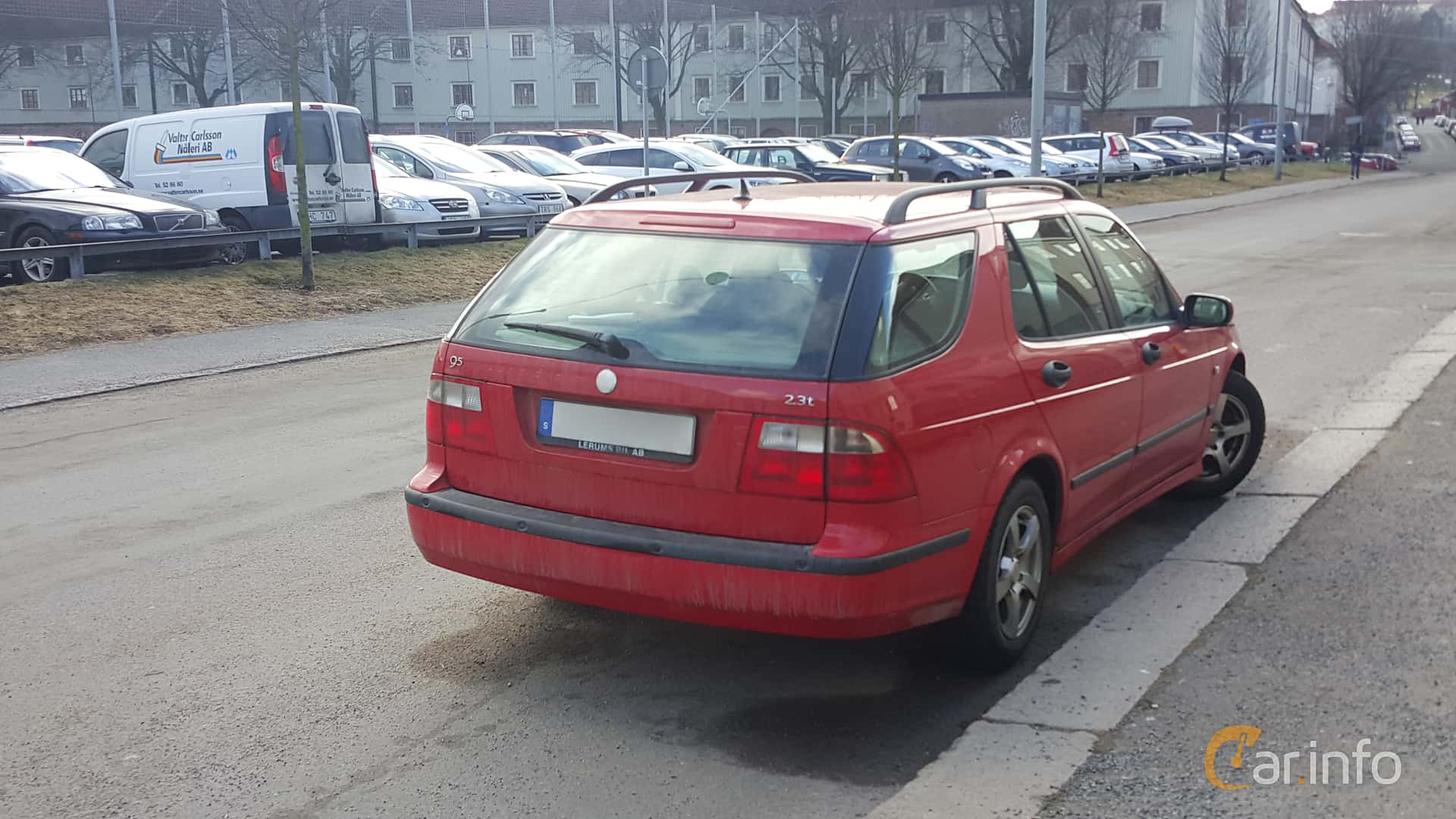 Back Side Of Saab 9 5 SportCombi 23 T Manual 185ps 2004