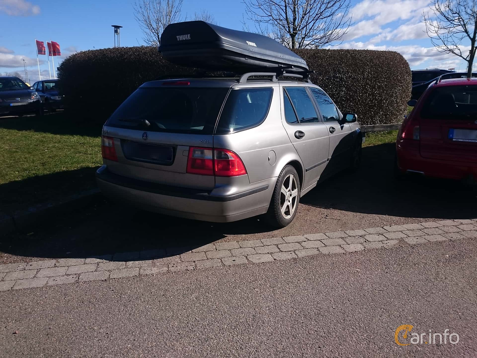 Back Side Of Saab 9 5 SportCombi 23 T Automatic 185ps 2005