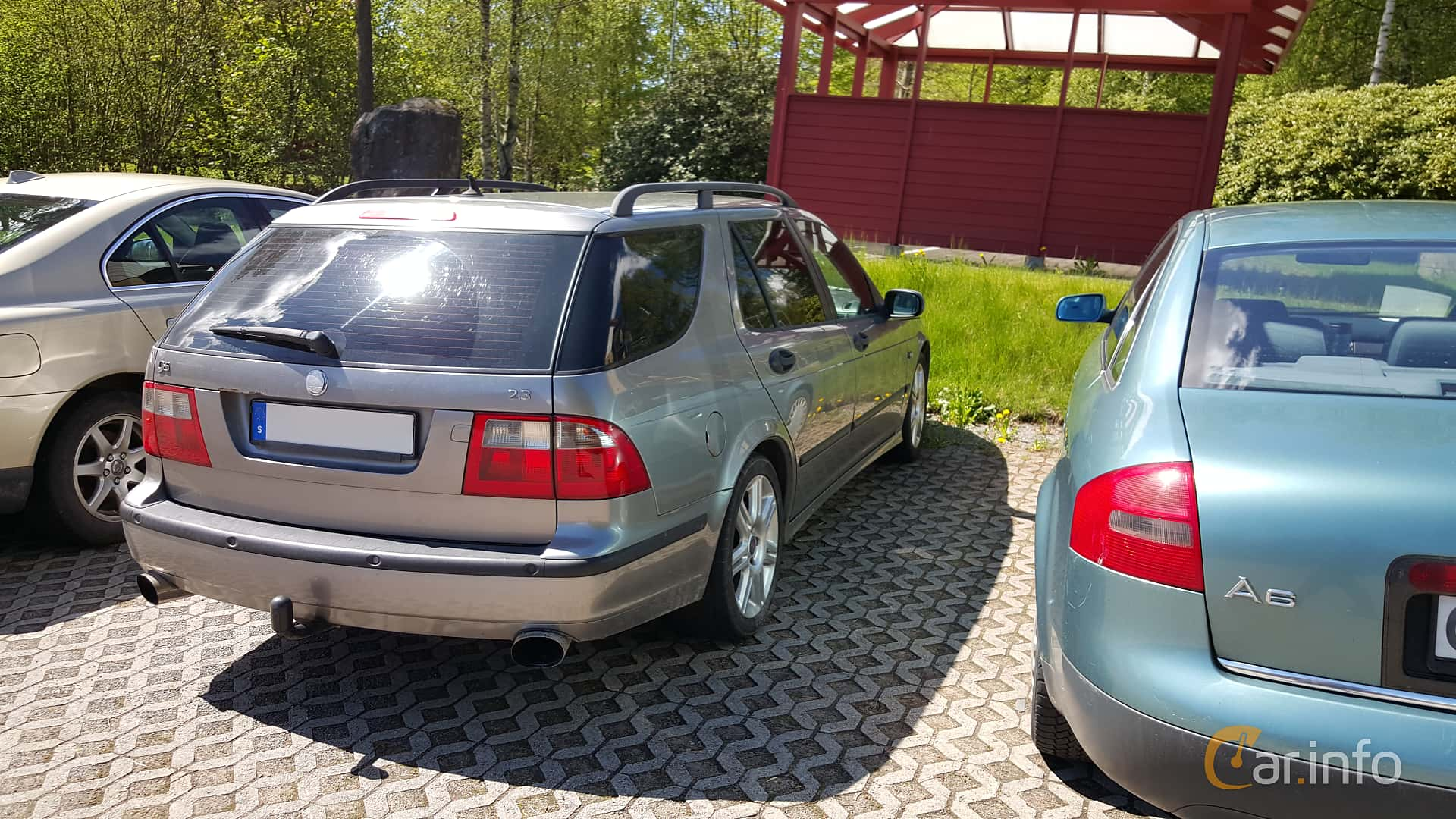Back Side Of Saab 9 5 SportCombi 23 T Manual 185ps 2005