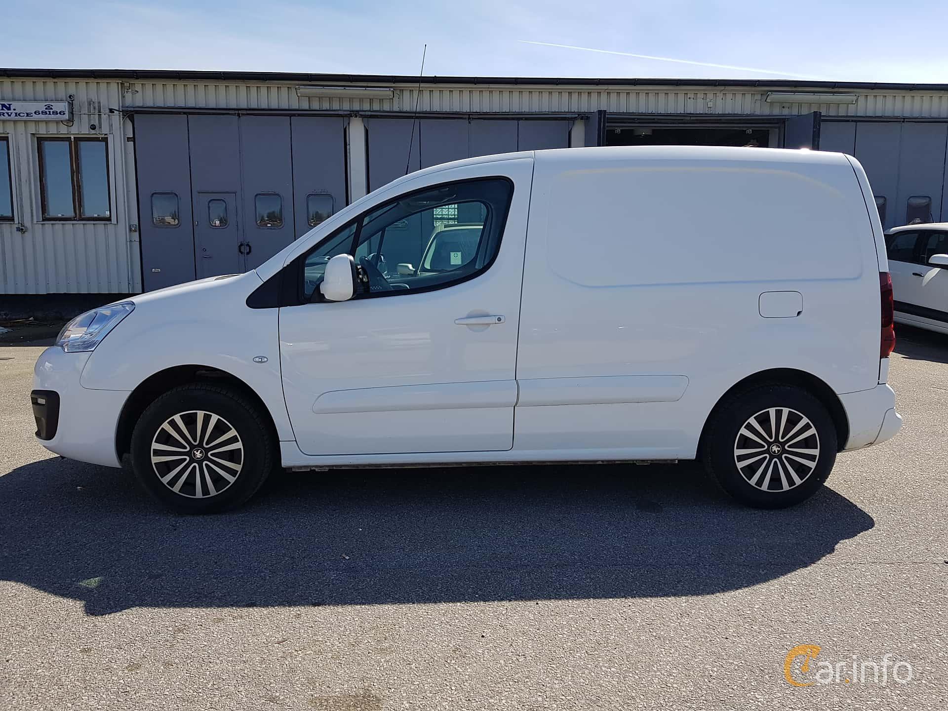 Side  of Peugeot Partner Van 1.6 BlueHDi Manual, 99ps, 2015