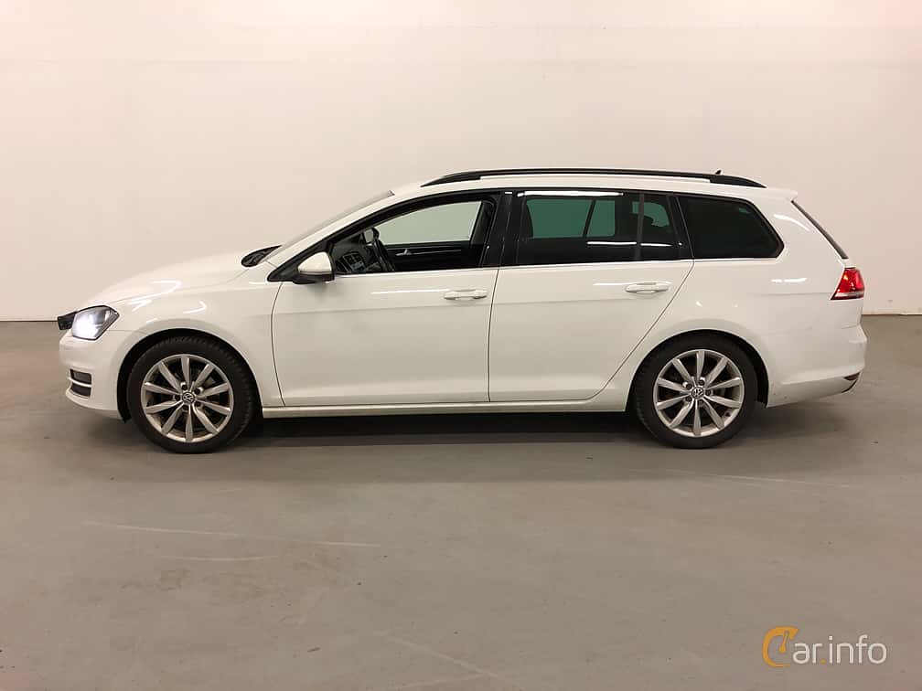 Side  of Volkswagen Golf Variant 2.0 TDI BlueMotion  DSG Sequential, 150ps, 2016