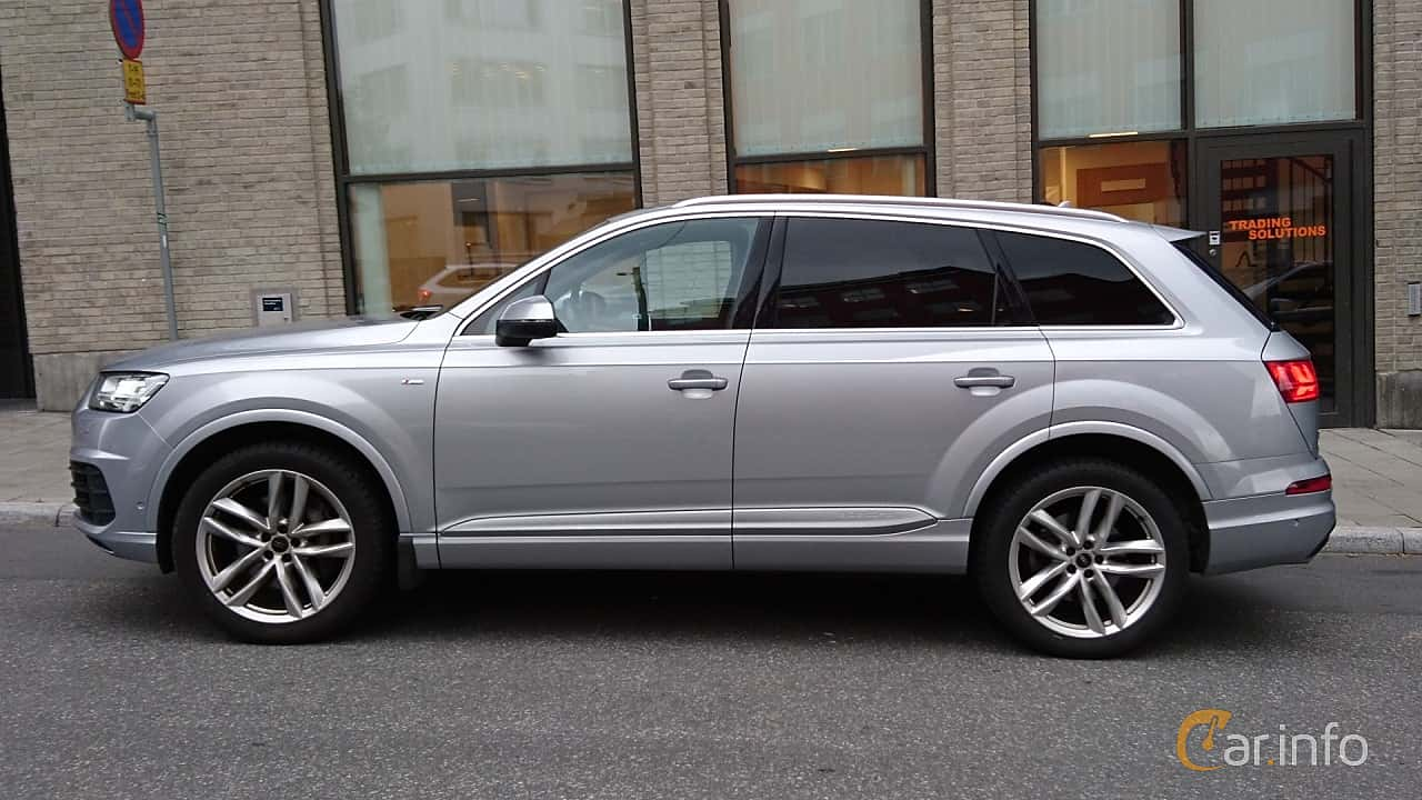 Side  of Audi Q7 3.0 TDI V6 quattro TipTronic, 272ps, 2016