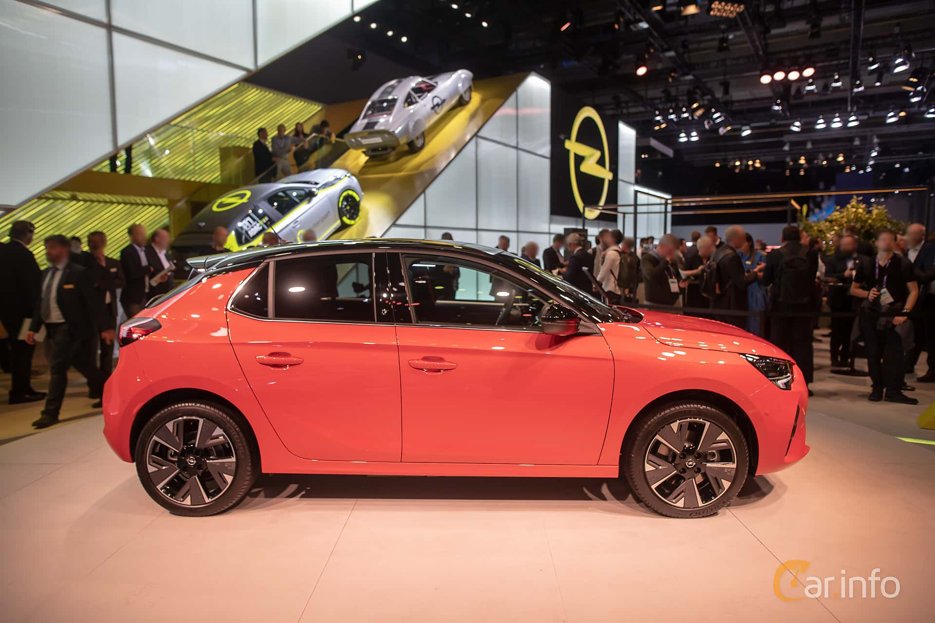 Side  of Opel Corsa-e 50 kWh Single Speed, 136ps, 2020 at IAA 2019