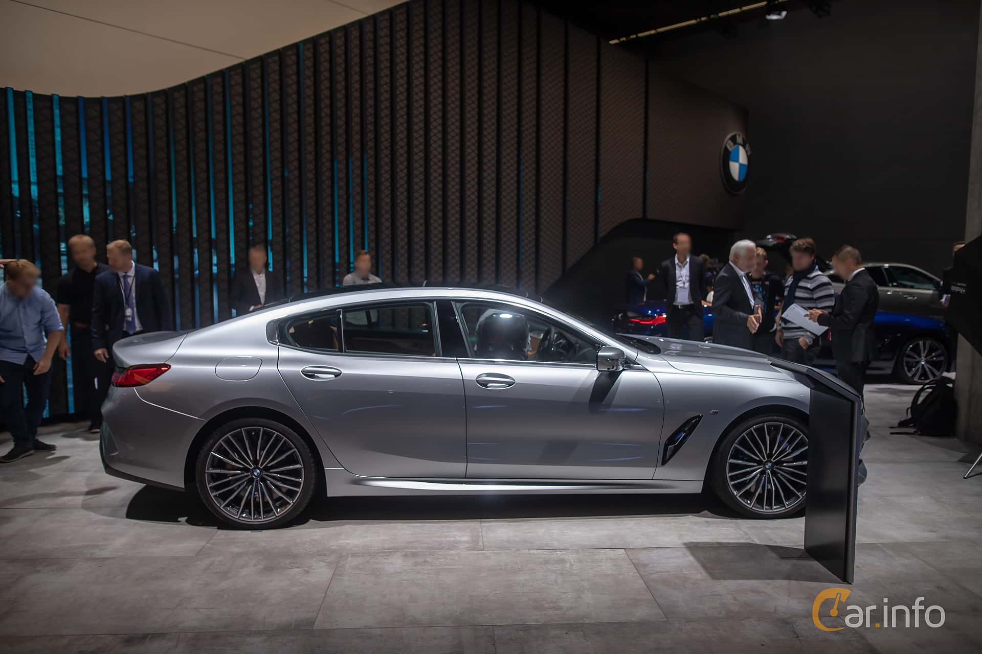 Side  of BMW M850i xDrive Gran Coupe  Steptronic, 530ps, 2020 at IAA 2019