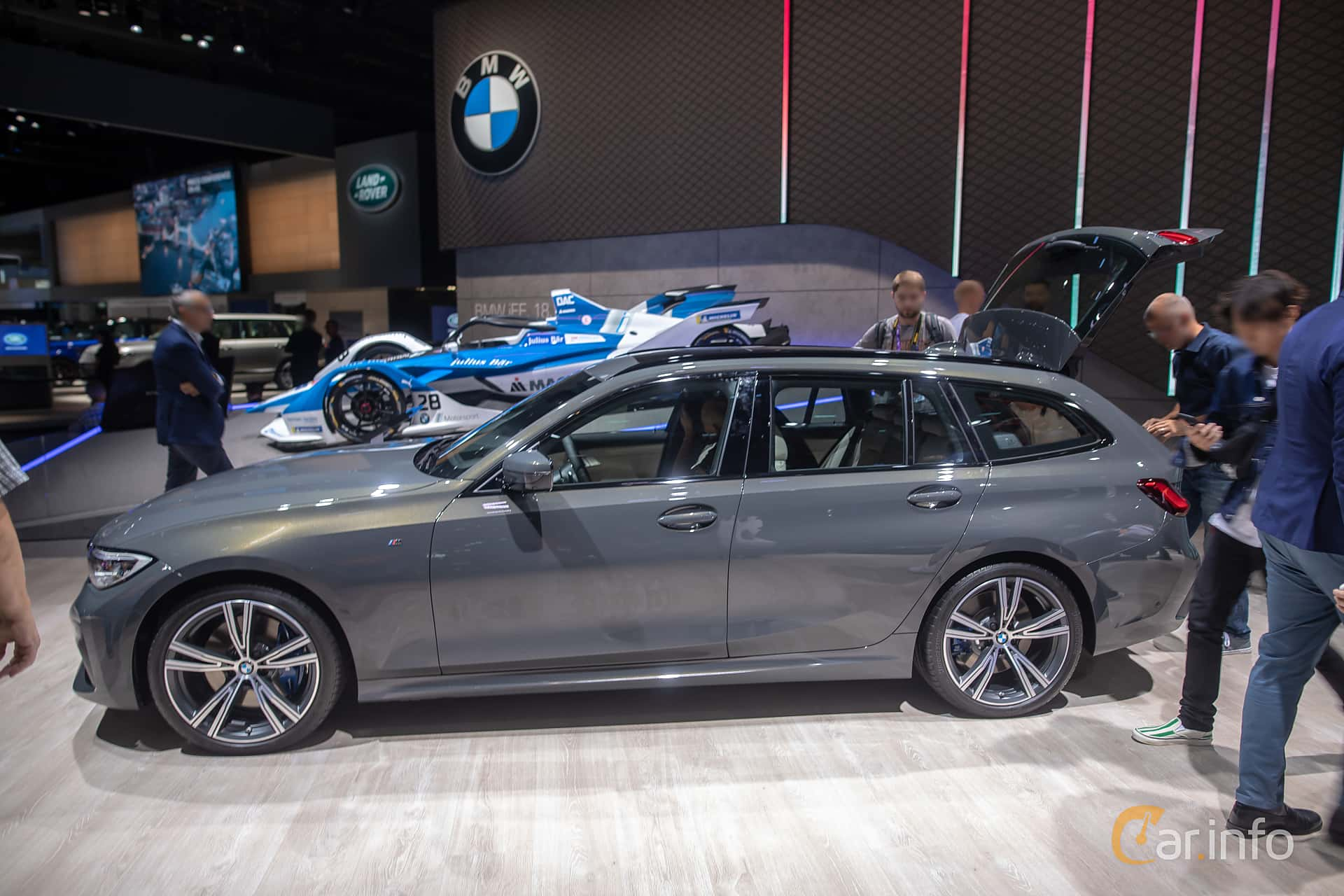 Side  of BMW 330d xDrive Touring  Steptronic, 265ps, 2020 at IAA 2019