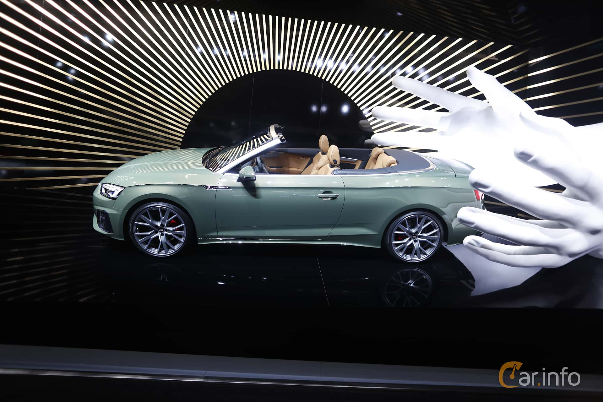 Side  of Audi A5 40 TDI Cabriolet  S Tronic, 190ps, 2020 at IAA 2019