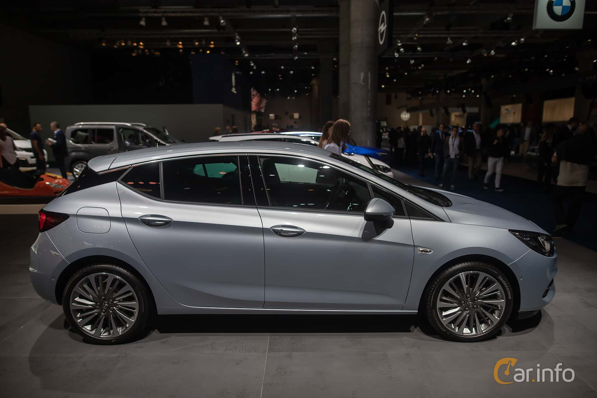 Side  of Opel Astra 1.2 Turbo Manual, 130ps, 2020 at IAA 2019