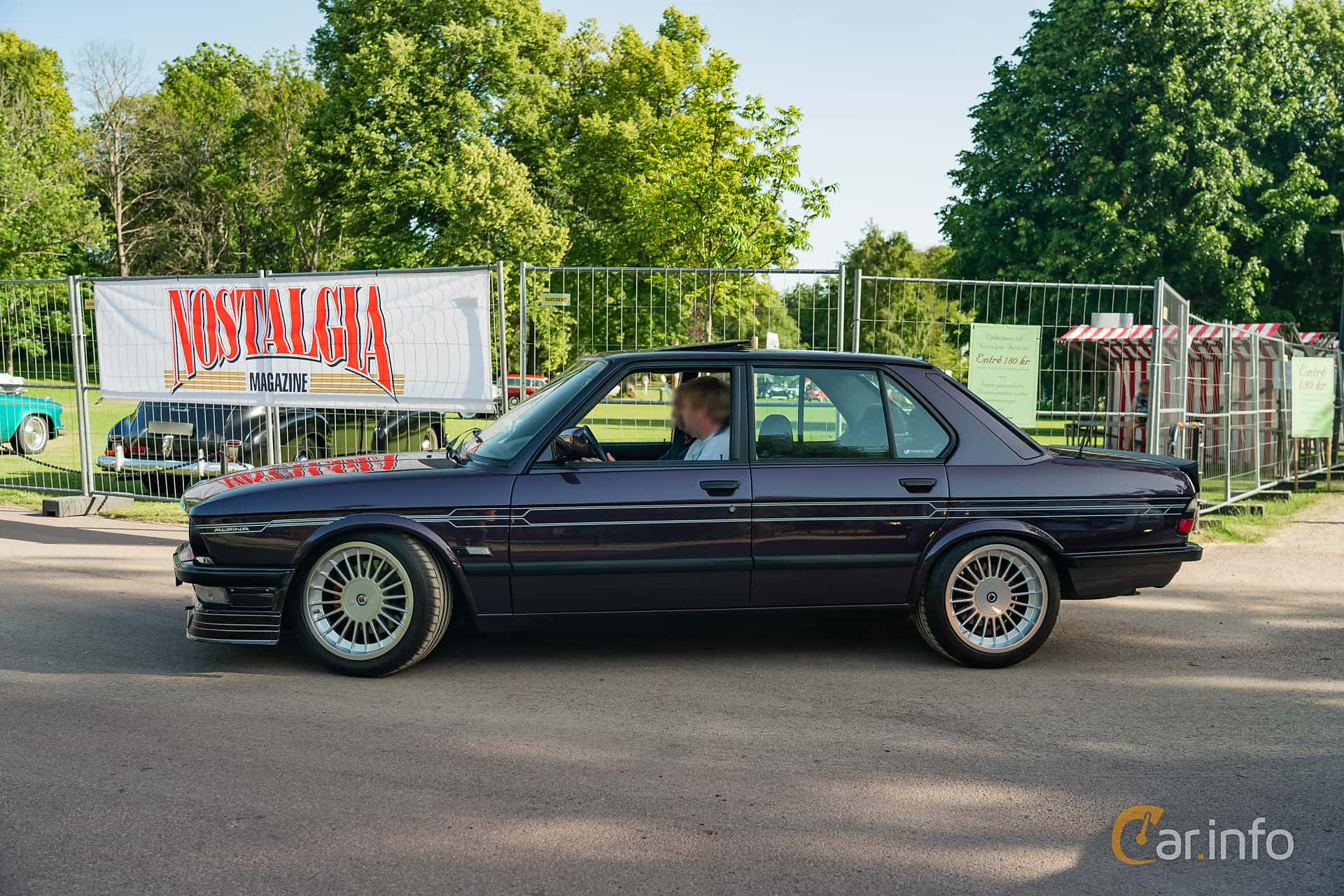 Side  of ALPINA B7 Turbo / 1  Manual, 300ps, 1986 at Ronneby Nostalgia Festival 2019