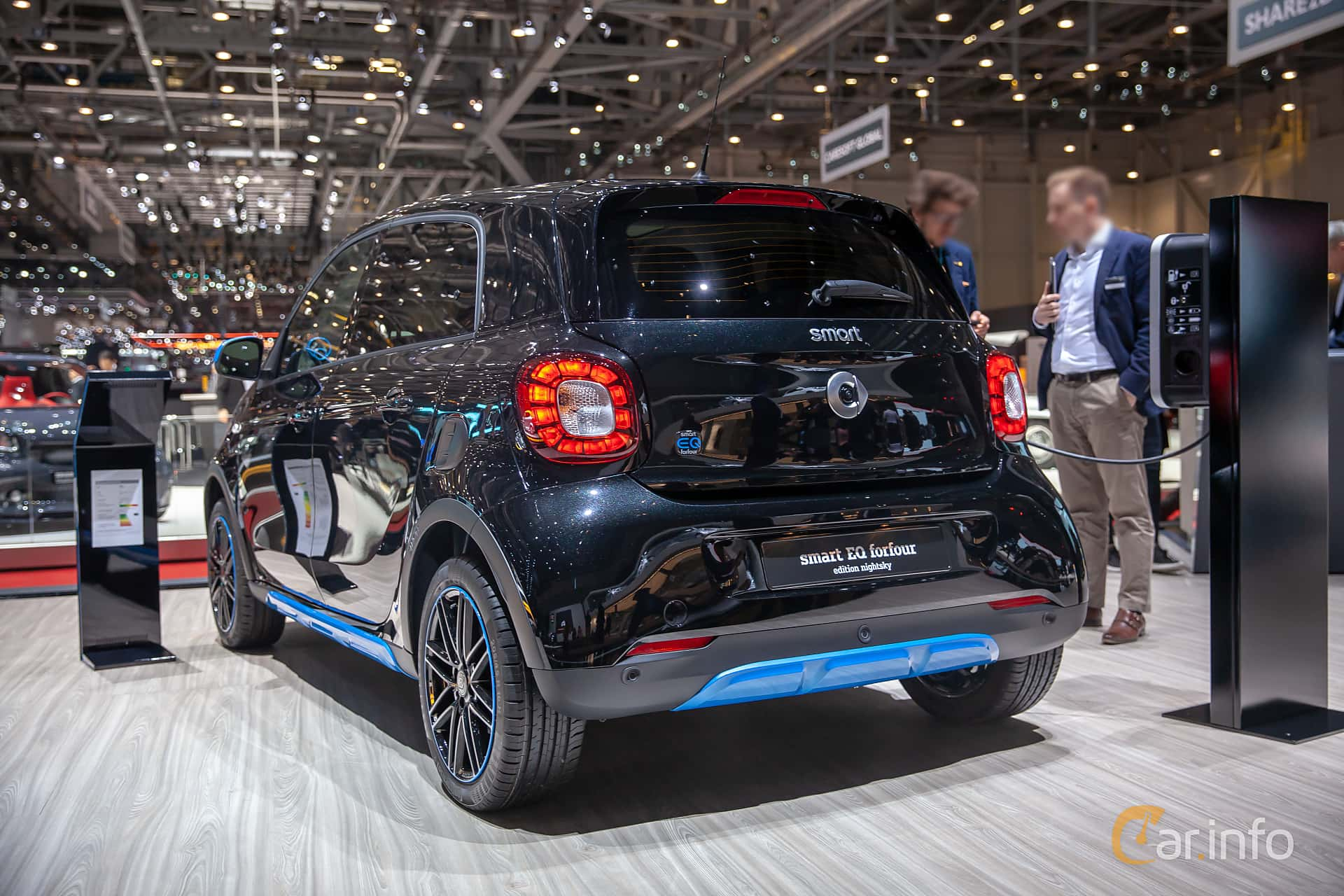 Back/Side of Smart forfour electric drive 17.6 kWh Single Speed, 82ps, 2019 at Geneva Motor Show 2019