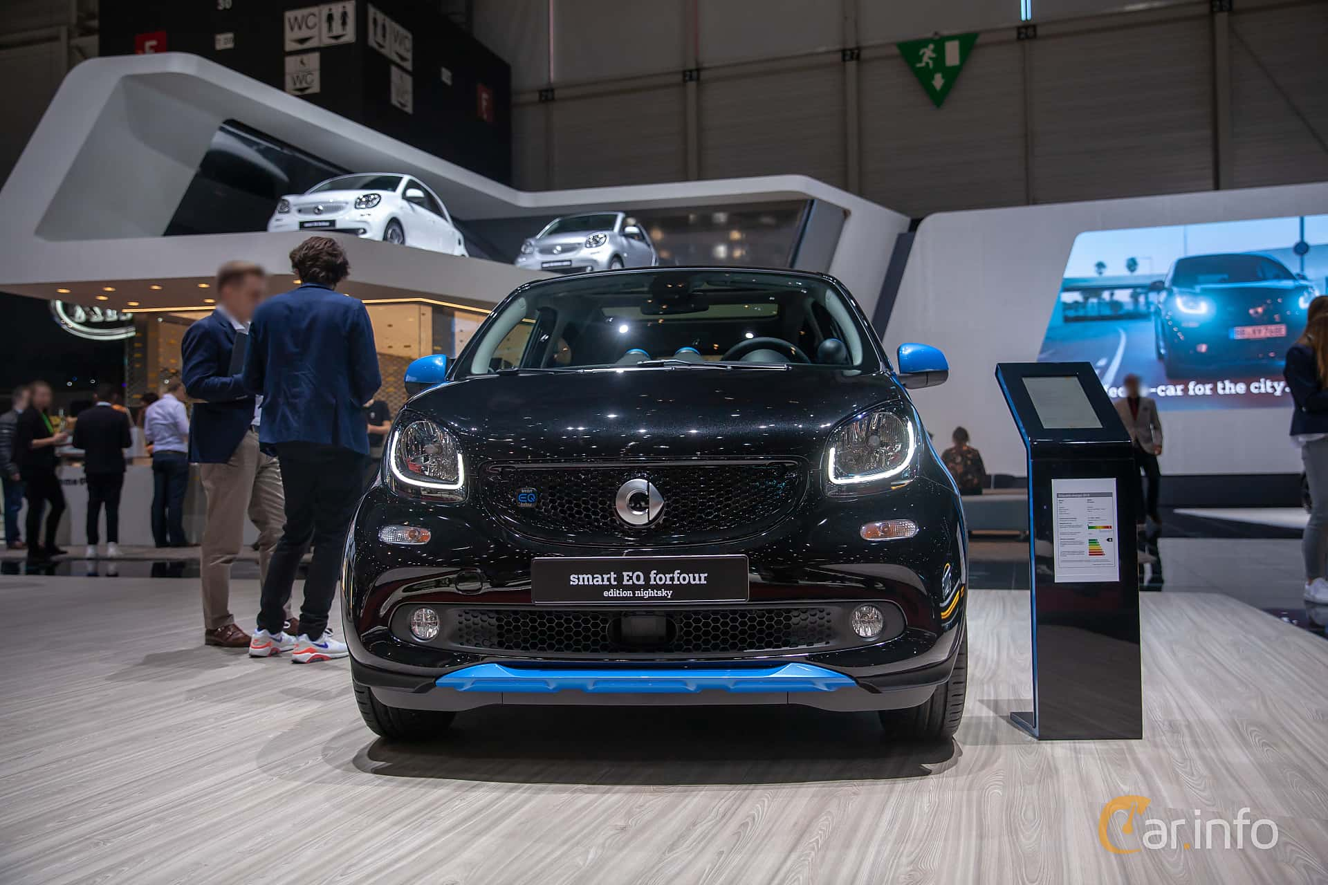 Front  of Smart forfour electric drive 17.6 kWh Single Speed, 82ps, 2019 at Geneva Motor Show 2019