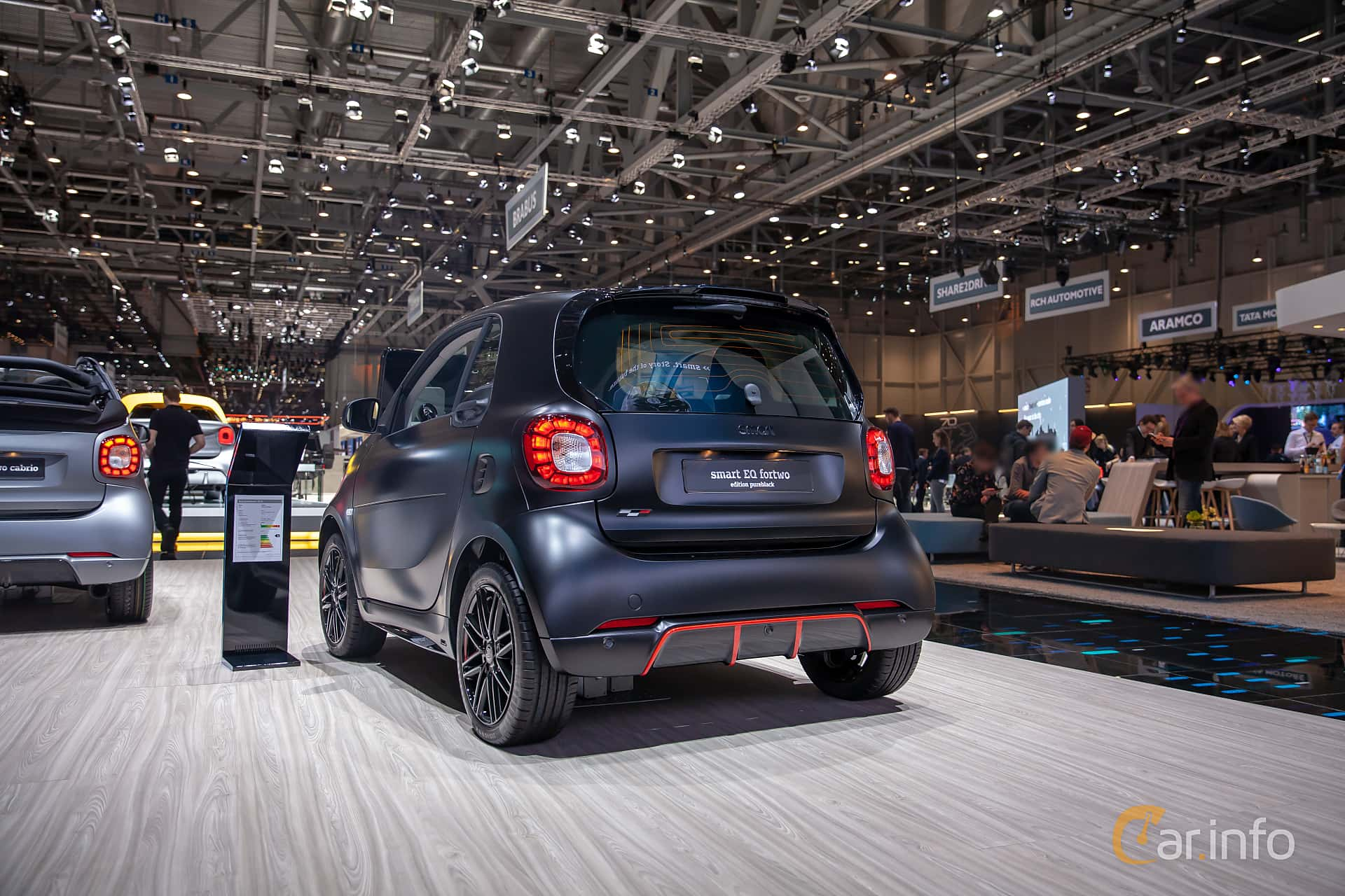 Back/Side of Smart fortwo electric drive 17.6 kWh Single Speed, 82ps, 2019 at Geneva Motor Show 2019