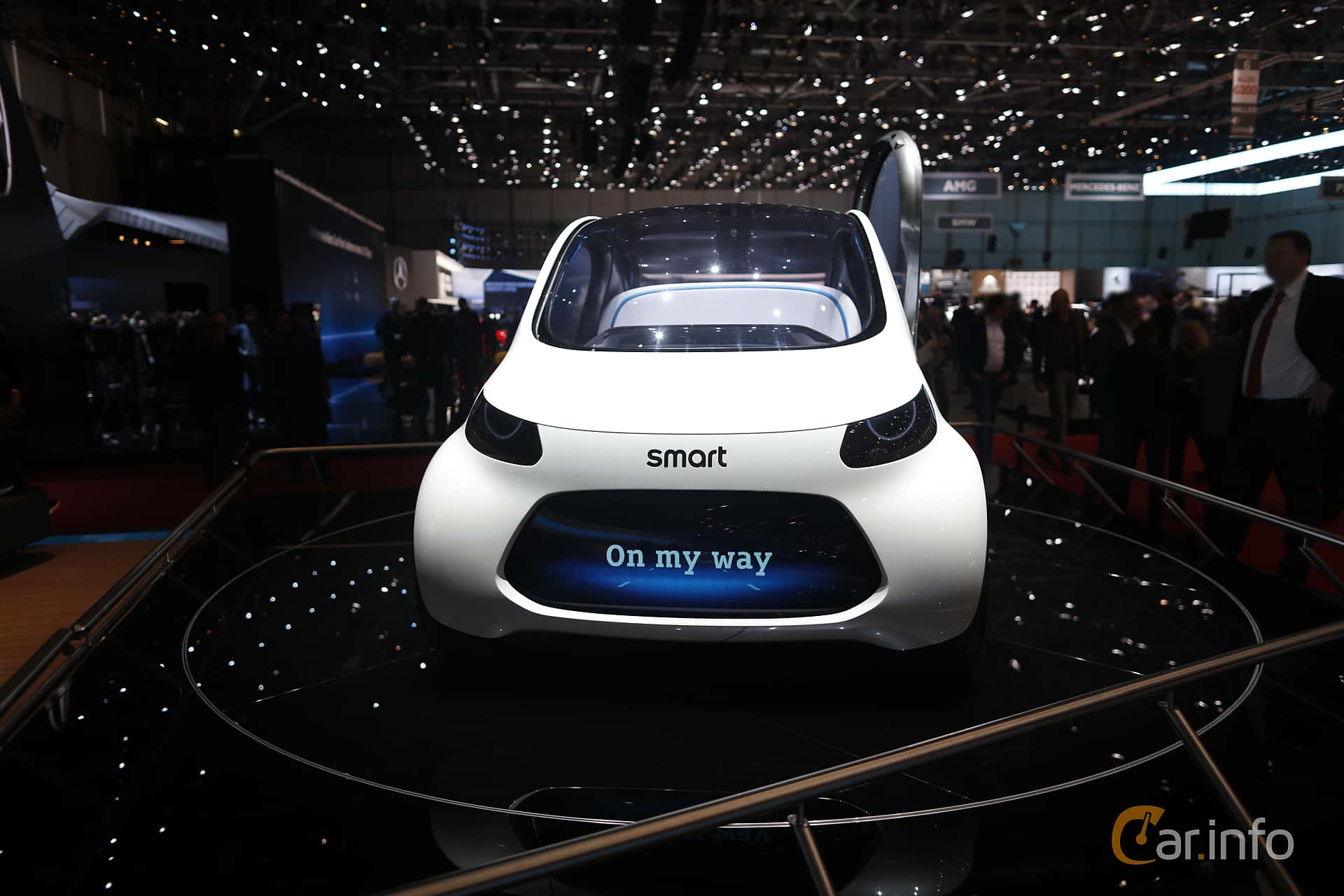 fbbcfb613 Front of Smart vision EQ fortwo 30 kWh Single Speed, 2017 at Geneva Motor  Show