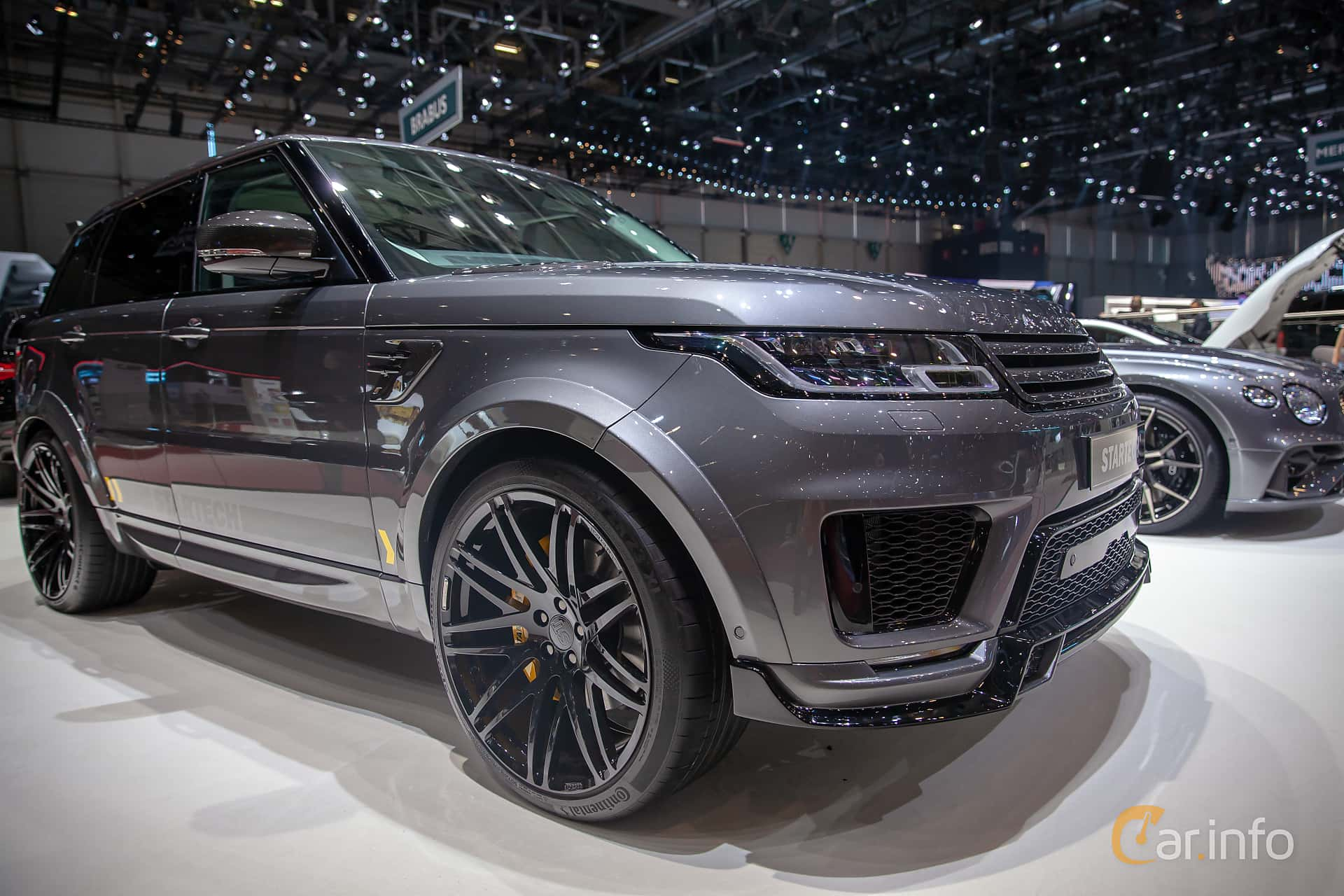 Front/Side  of STARTECH Range Rover Sport 5.0 V8 4WD Automatic, 525ps, 2019 at Geneva Motor Show 2019