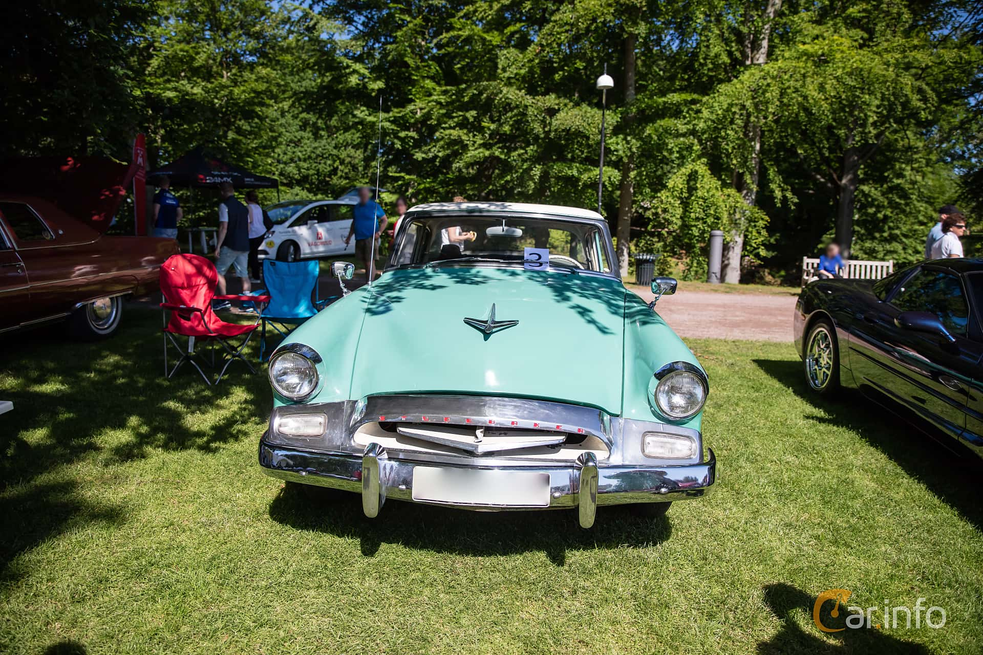 Front  of Studebaker Champion 4-door Sedan 3.0 Manual, 102ps, 1955 at Sofiero Classic 2017
