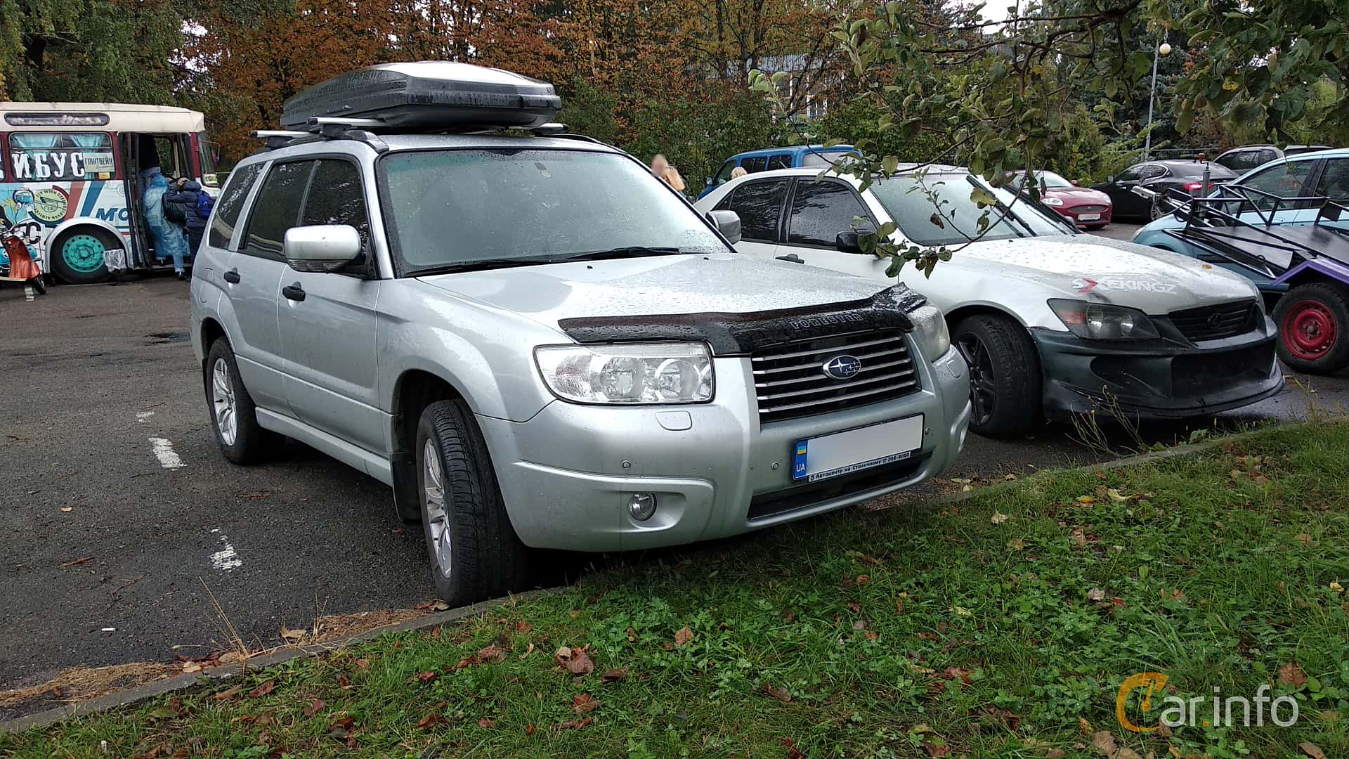 Front/Side of Subaru Forester 2006 at Old Car Land no 2 2018